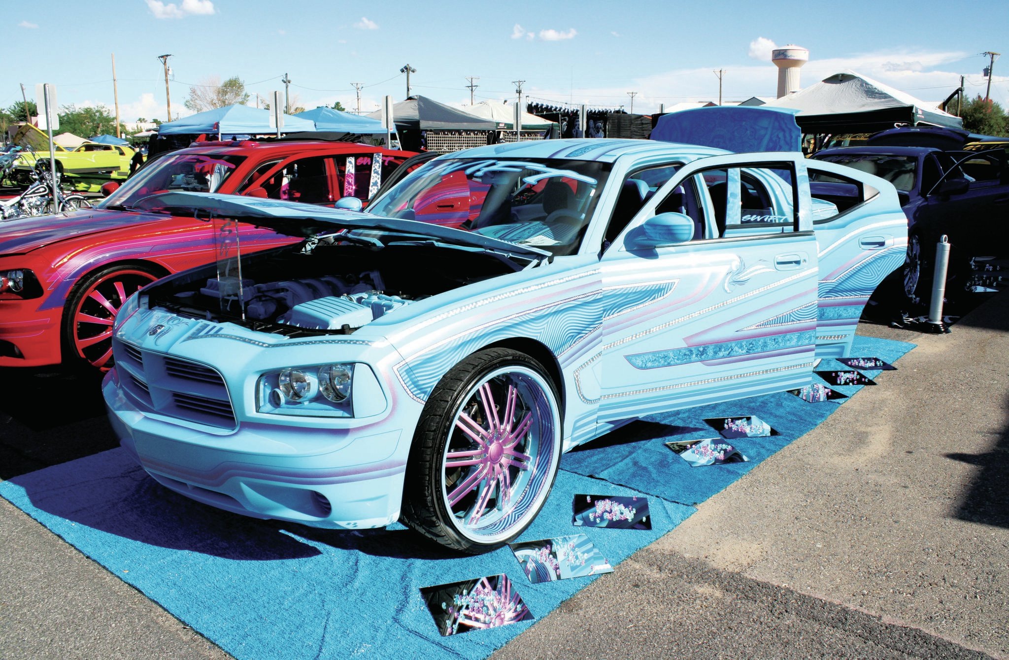 el paso texas lowrider show dodge charger 15 Lowrider