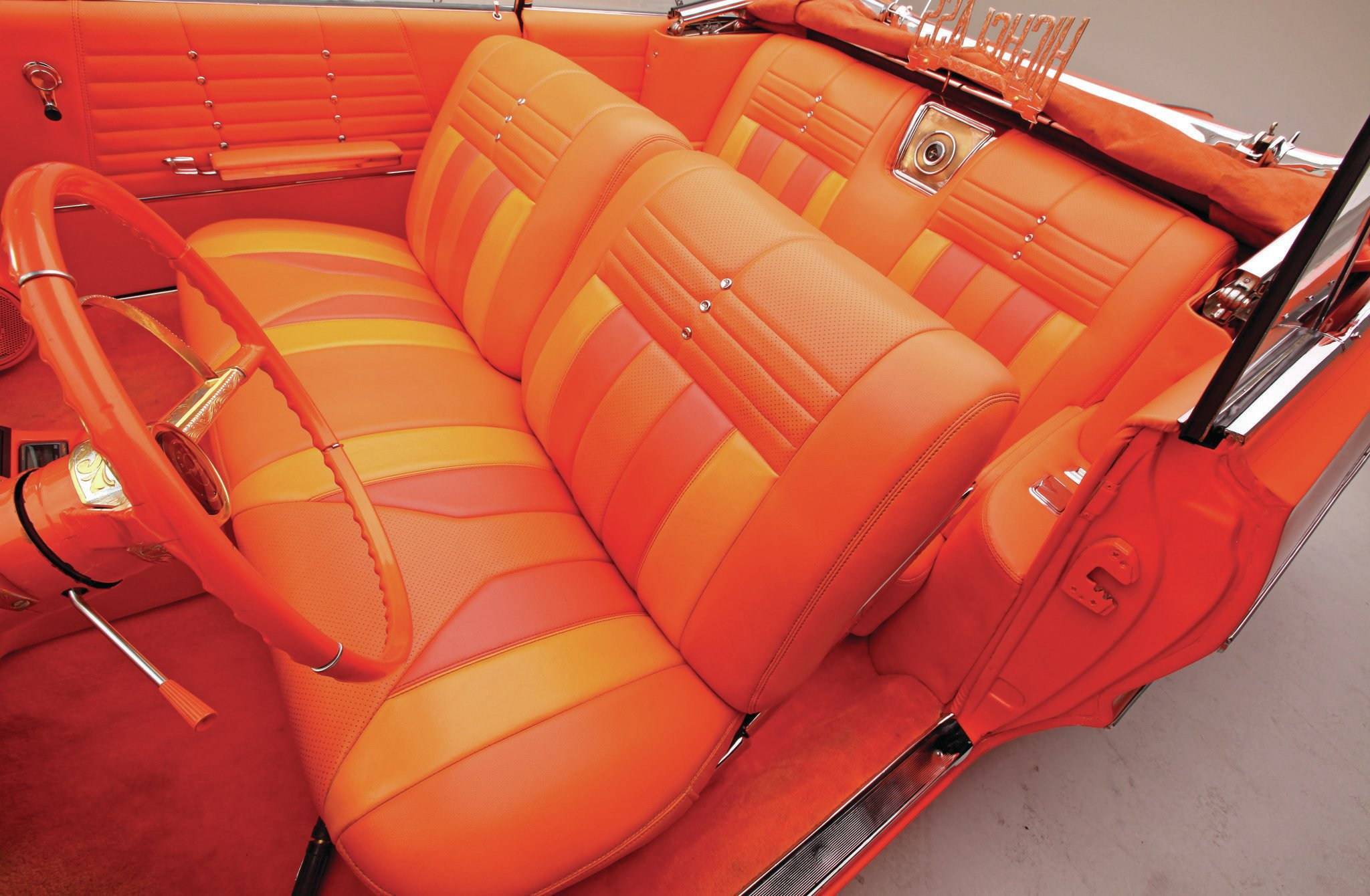 Miraculous 1964 Chevrolet Impala Convertible Orange Vinyl By California Gmtry Best Dining Table And Chair Ideas Images Gmtryco