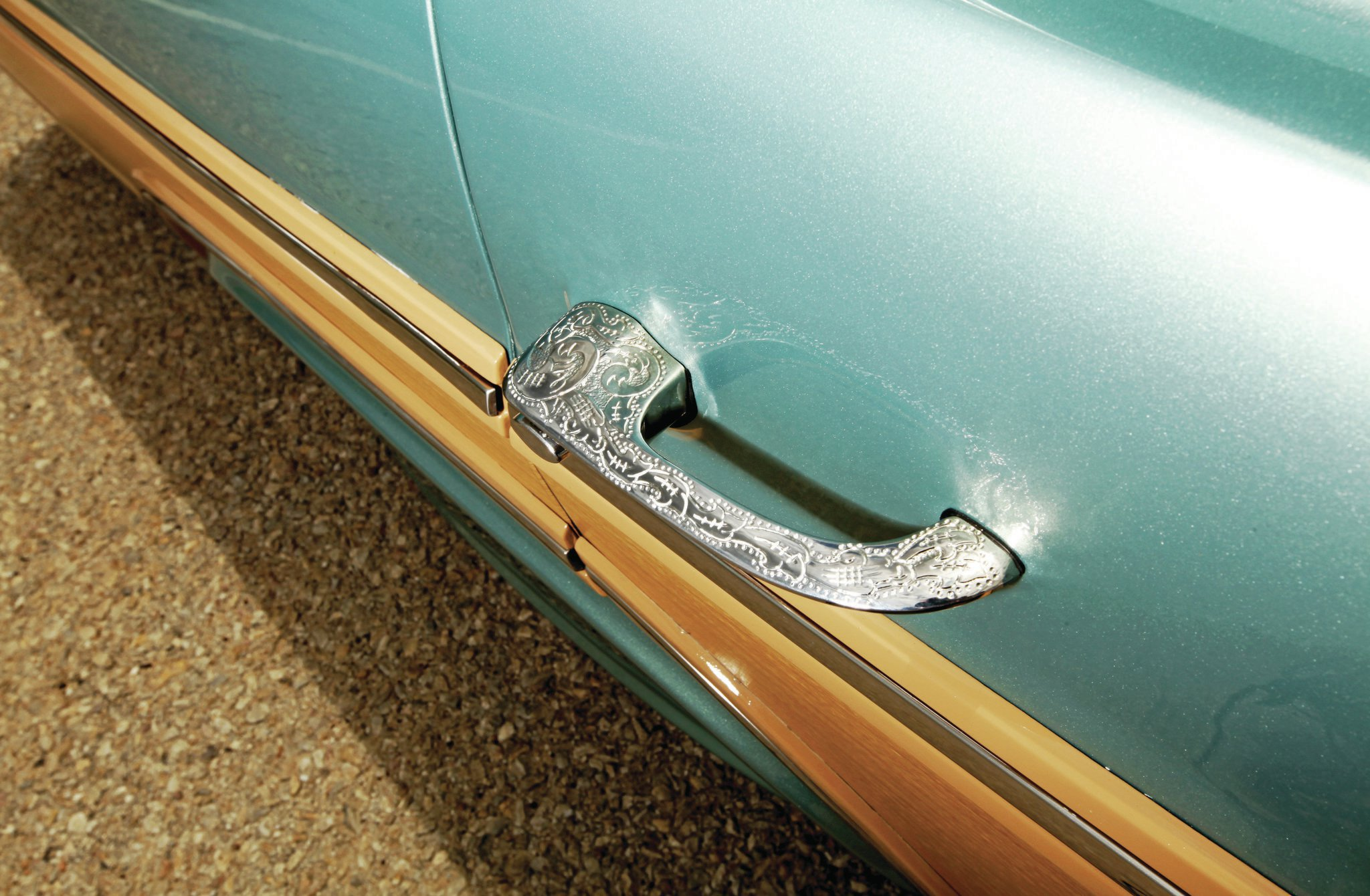 1966 Chevrolet Caprice Estate Wagon Custom Engraved Door Handle 02