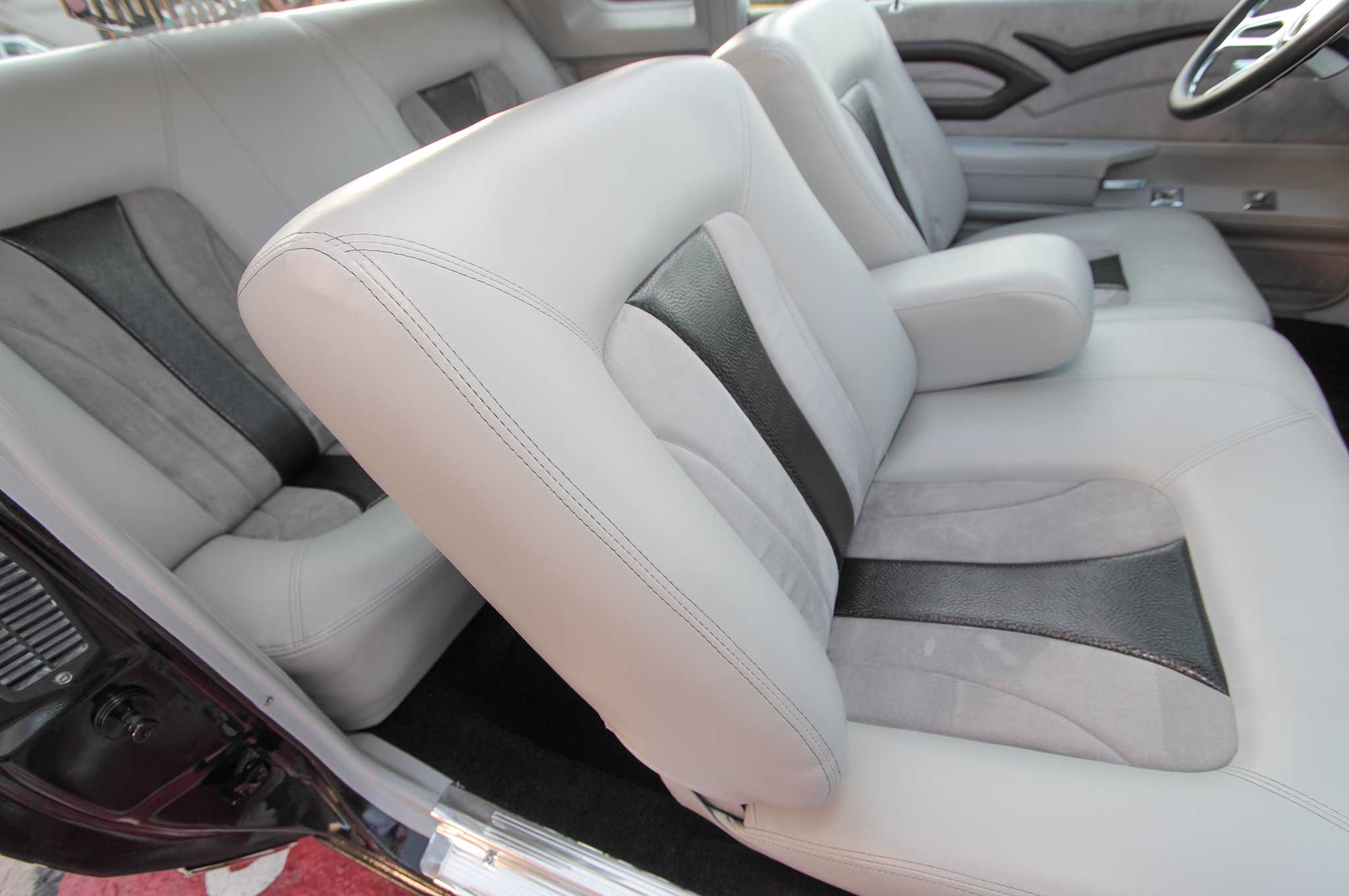 1983 Oldsmobile Cutlass Black Gray And Black Leather Suede Interior