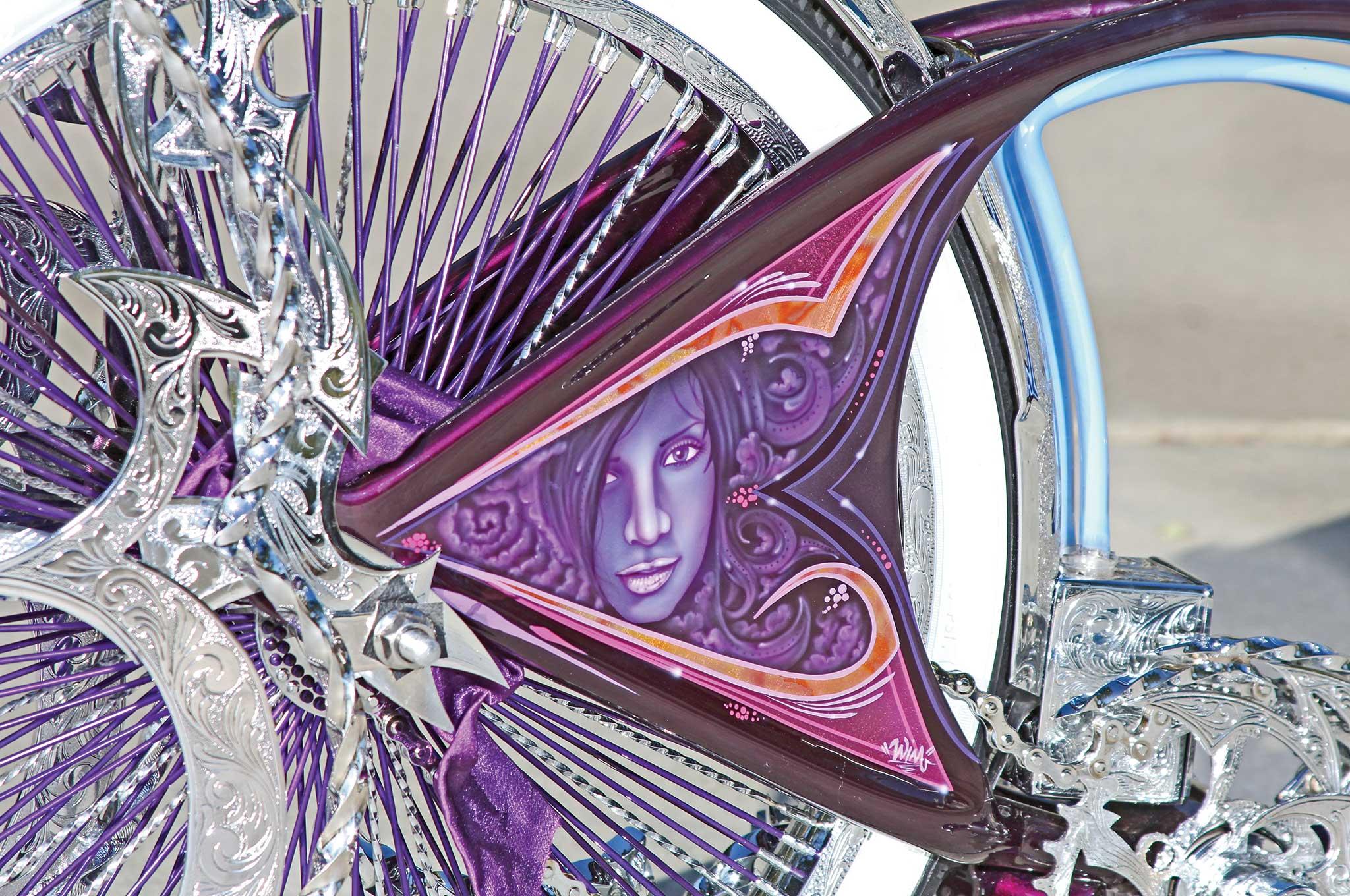 002 1967 schwinn bicycle airbrushed mural