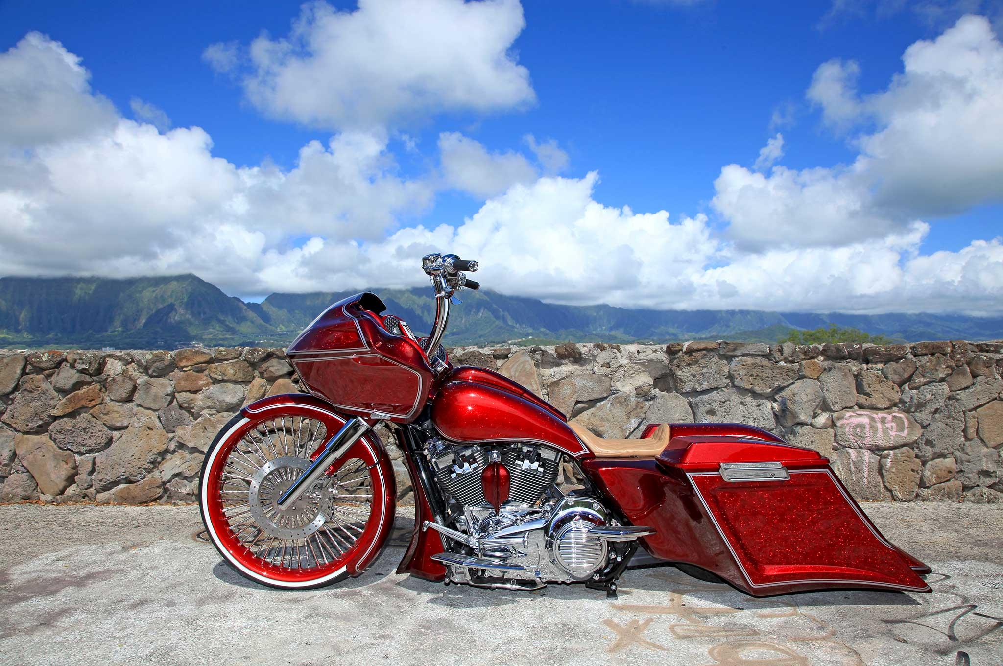 2013 Harley Davidson Road Glide Gliding In Paradise
