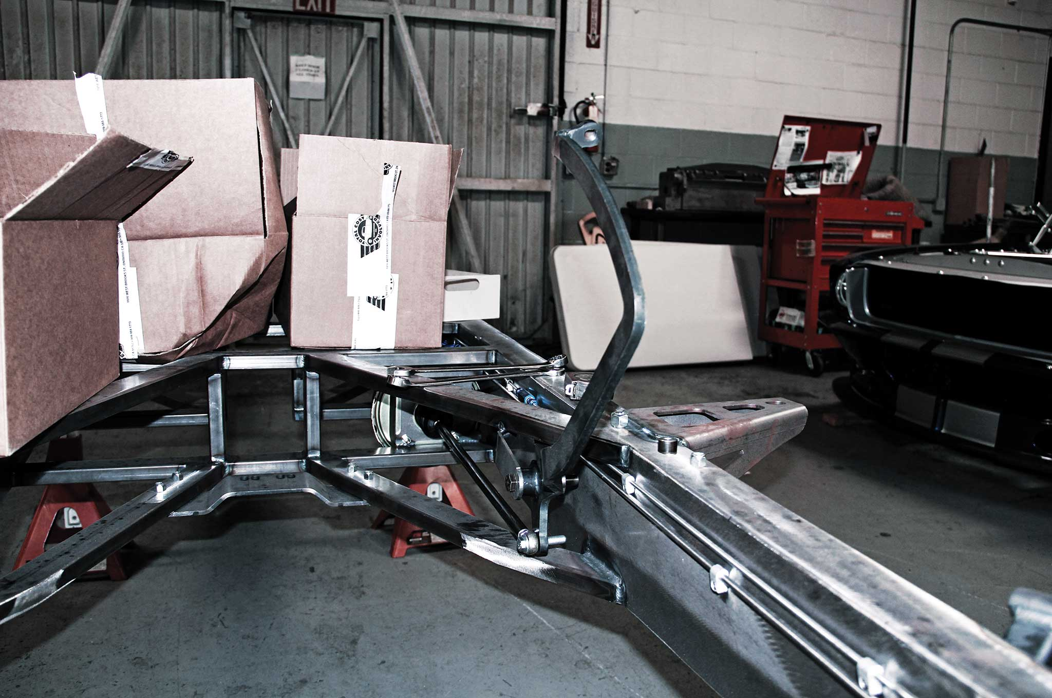 003 assembling a tci truck frame foot brake pedal bracket install