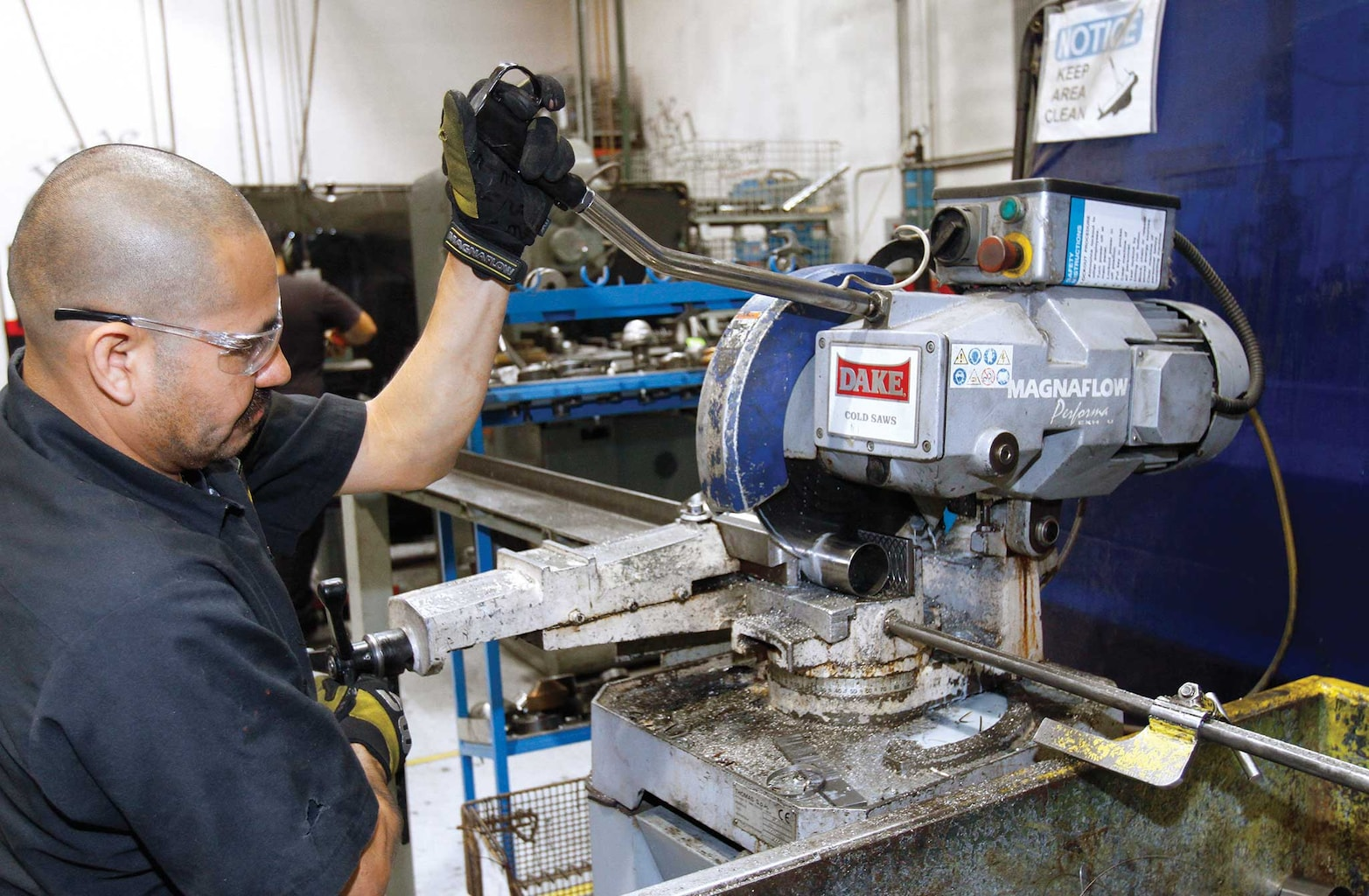 004 magnaflow exhaust install steel cutting