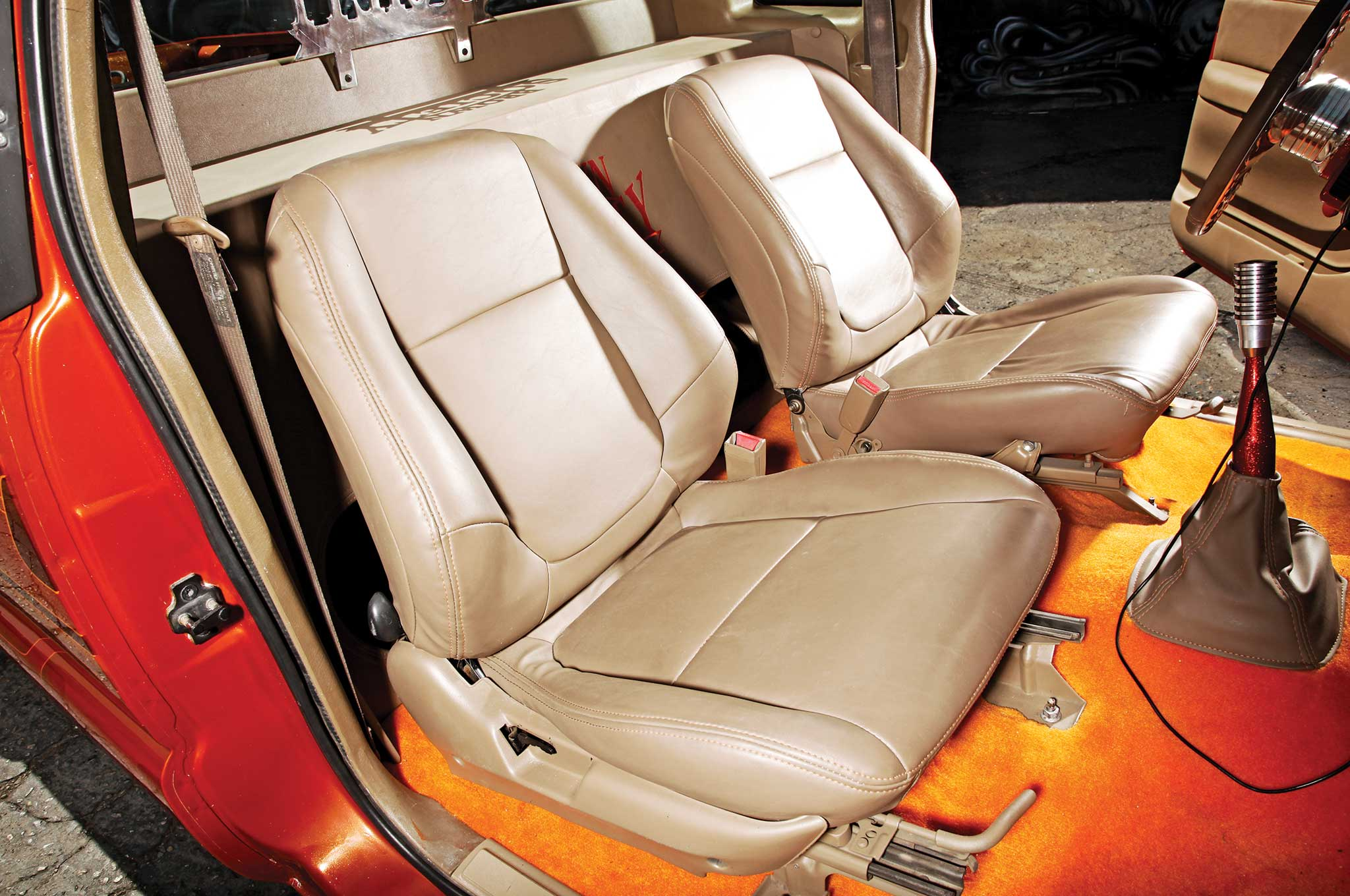 006 1996 Chevy S10 Tan Leather Bucket Seats