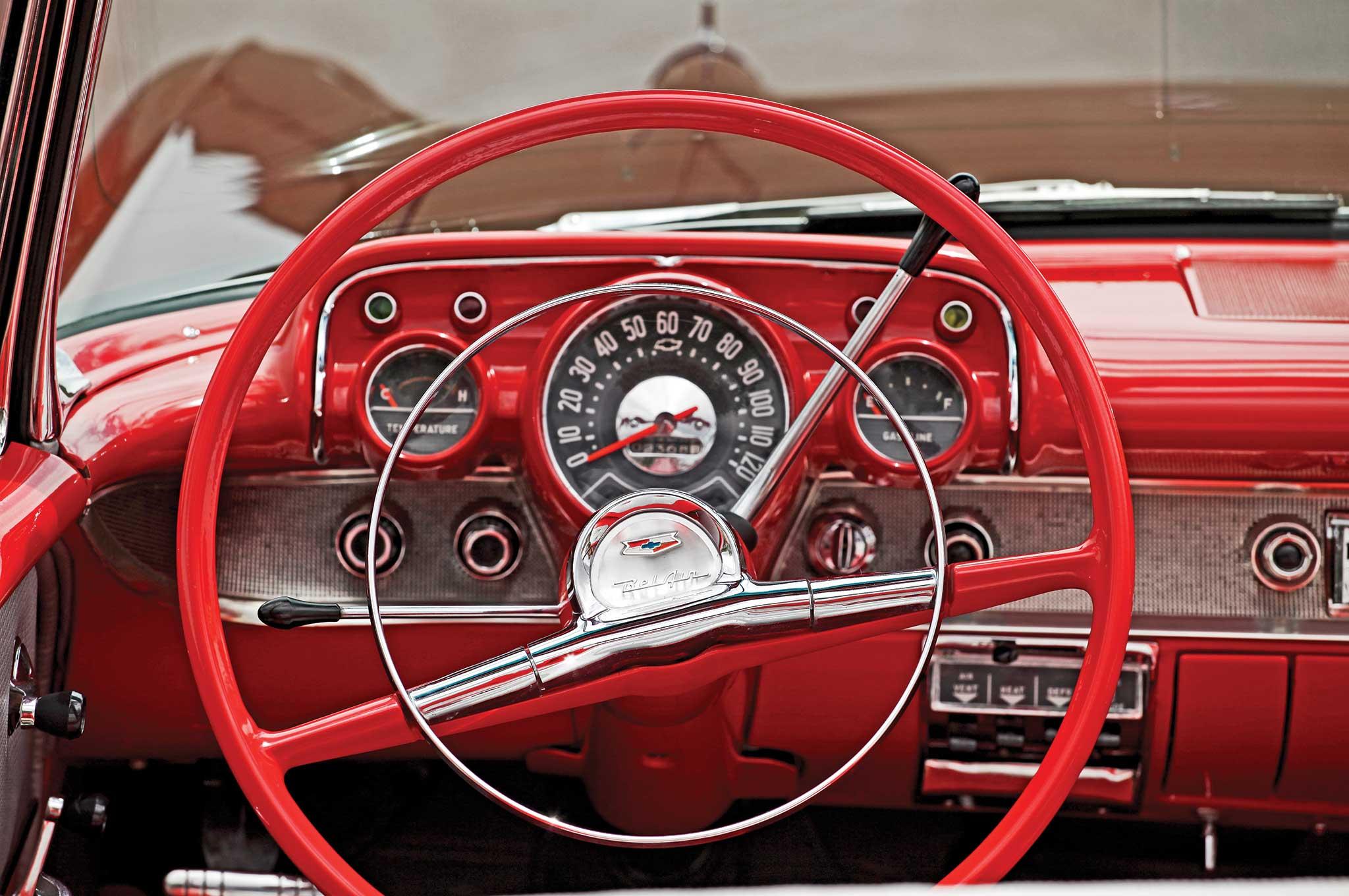 010 1957 chevrolet bel air convertible steering wheel