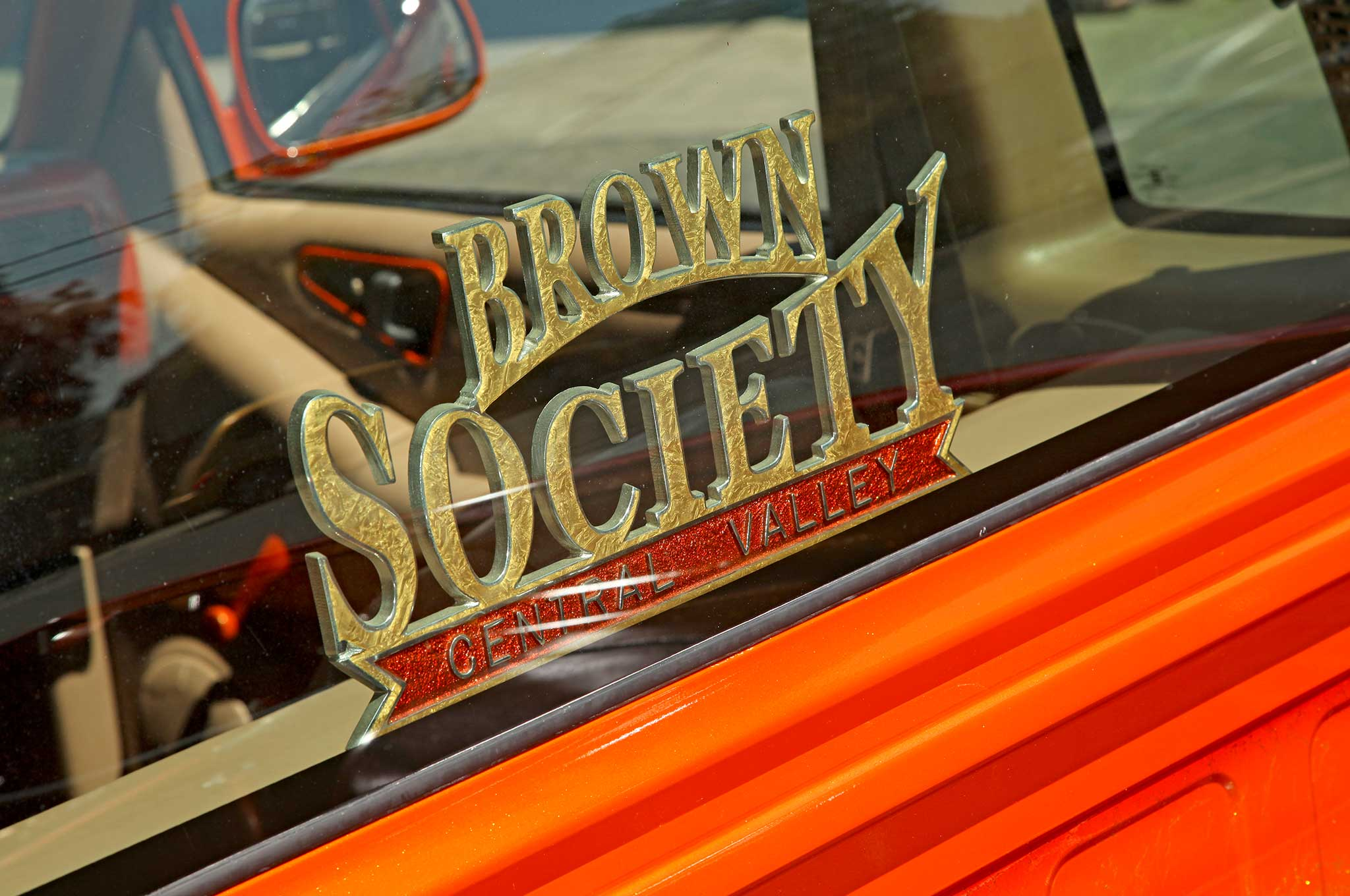 011 1996 chevy s10 brown society club plaque