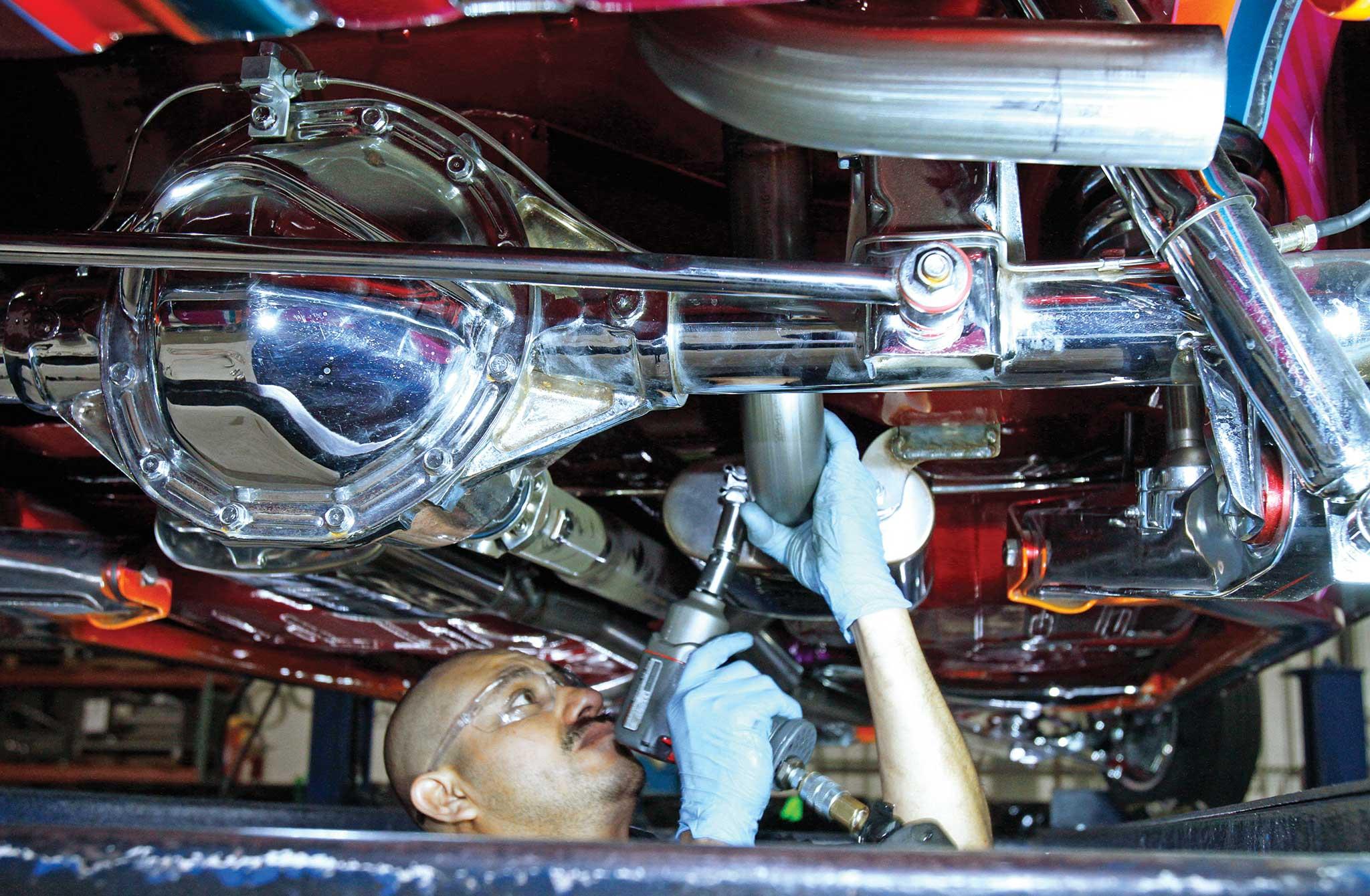 013 magnaflow exhaust install exhaust system tightening