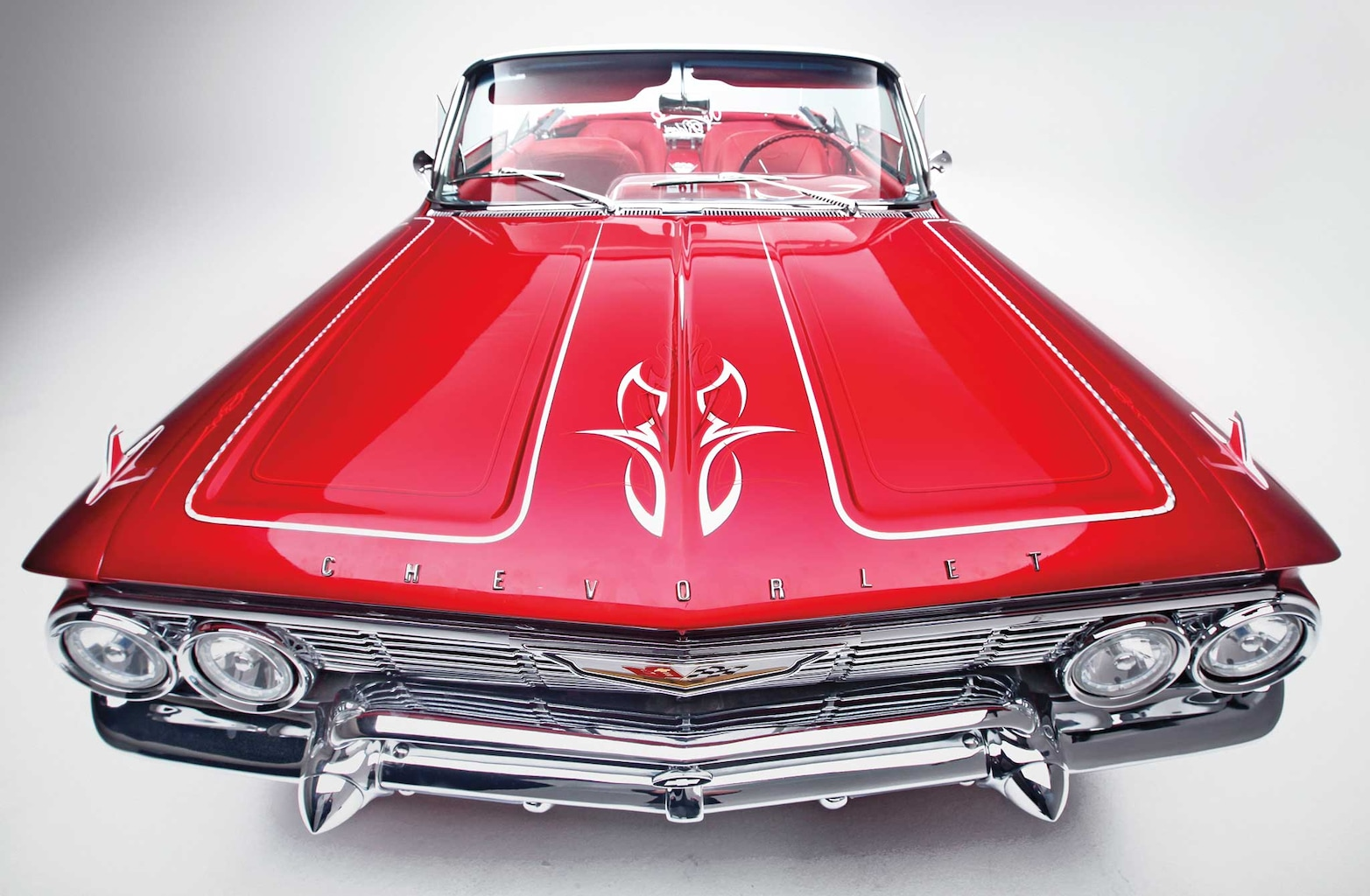 001 1961 chevrolet impala convertible front grille