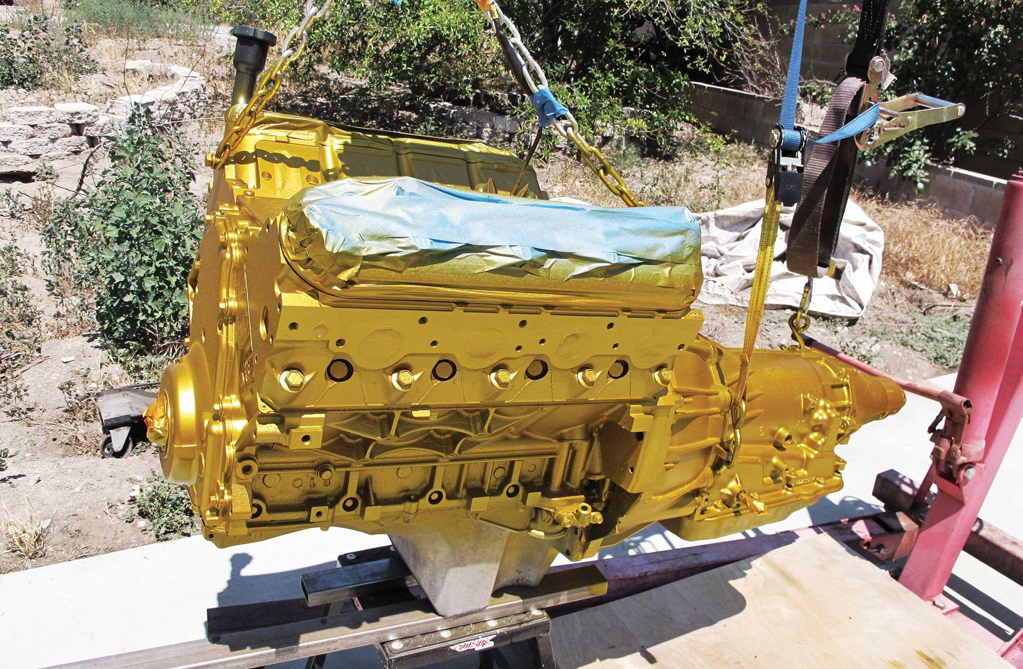 002 building an ls1 into a show engine axalta desperado gold finish