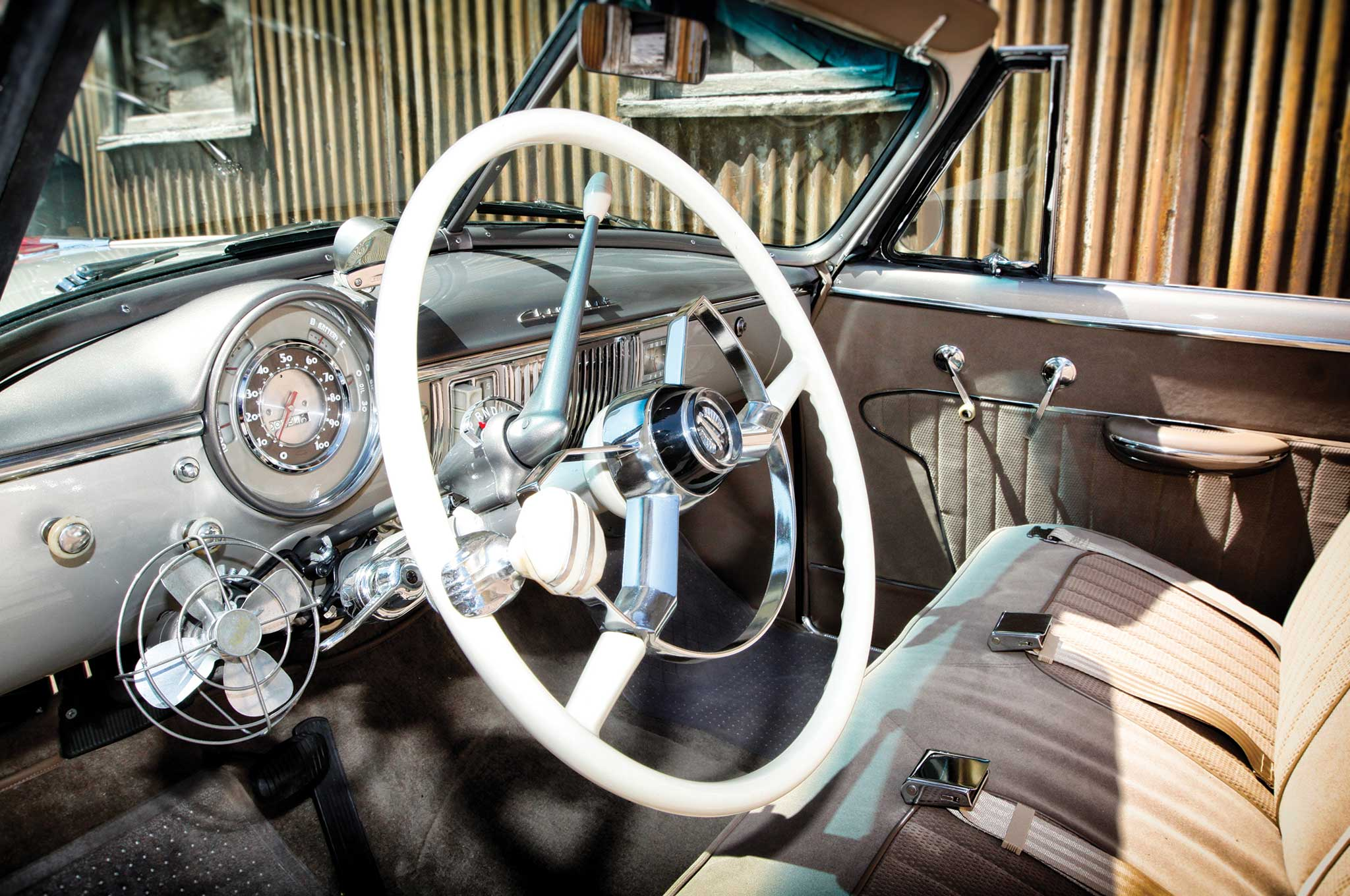 1949 chevrolet convertible steering wheel 007