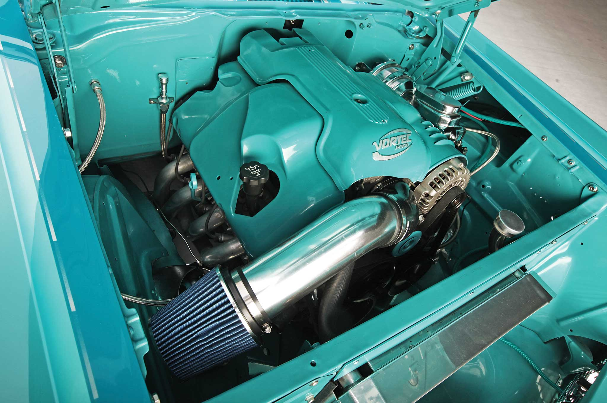 1957 chevrolet bel air cadillac v8 007
