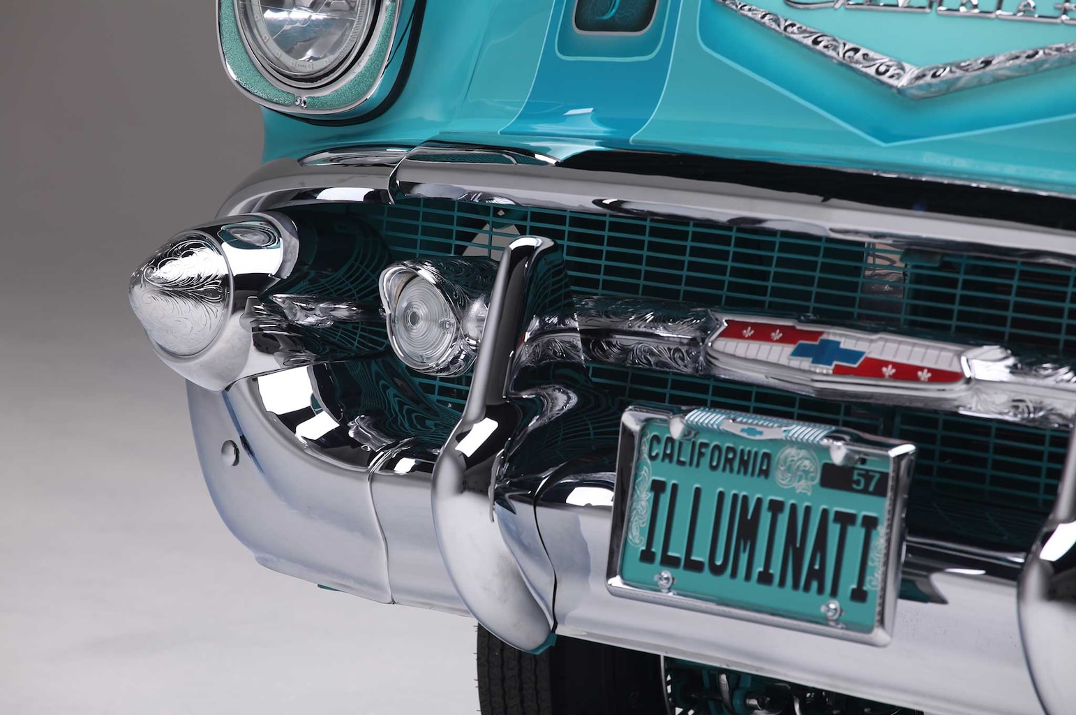 1957 chevrolet bel air front bumper 029