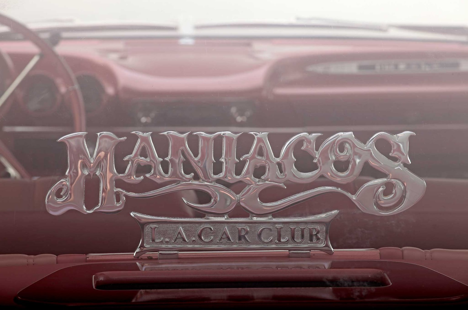1959 chevrolet impala maniacos club plaque 027