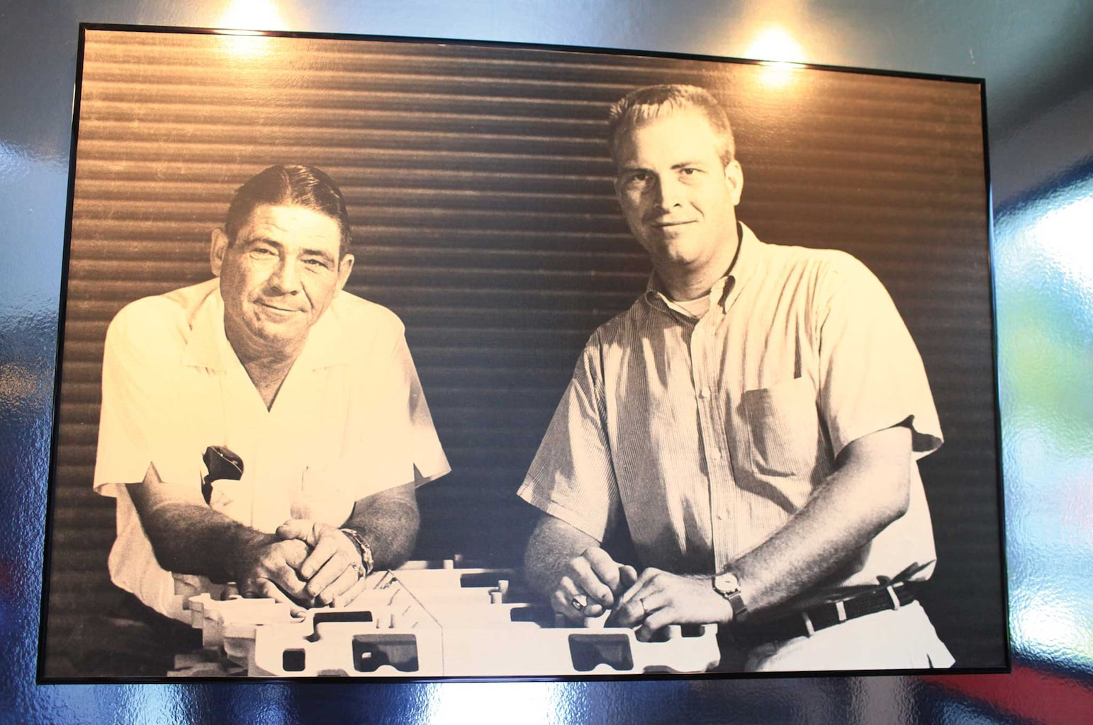 The Edelbrocks, Vic Edelbrock Sr. and Jr. The most respected names in the performance industry.