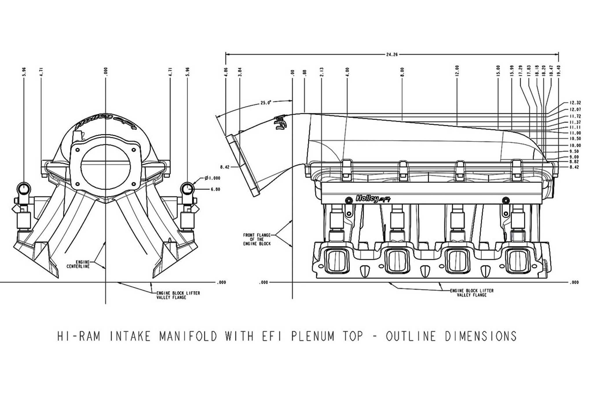 holley ls engine accessories ls hi ram efi manifold diagram