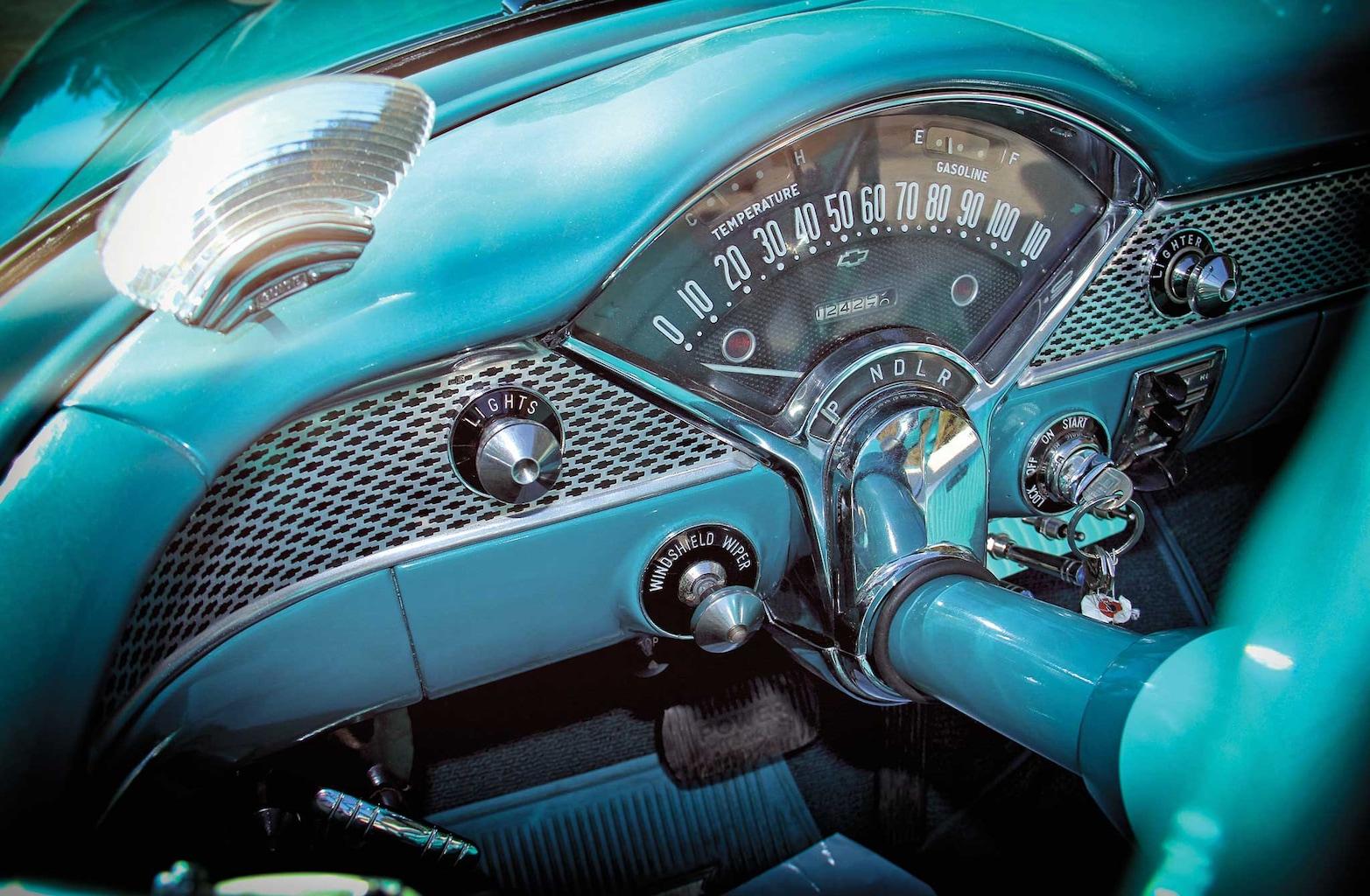1955 chevy bel air convertible gauge cluster 006