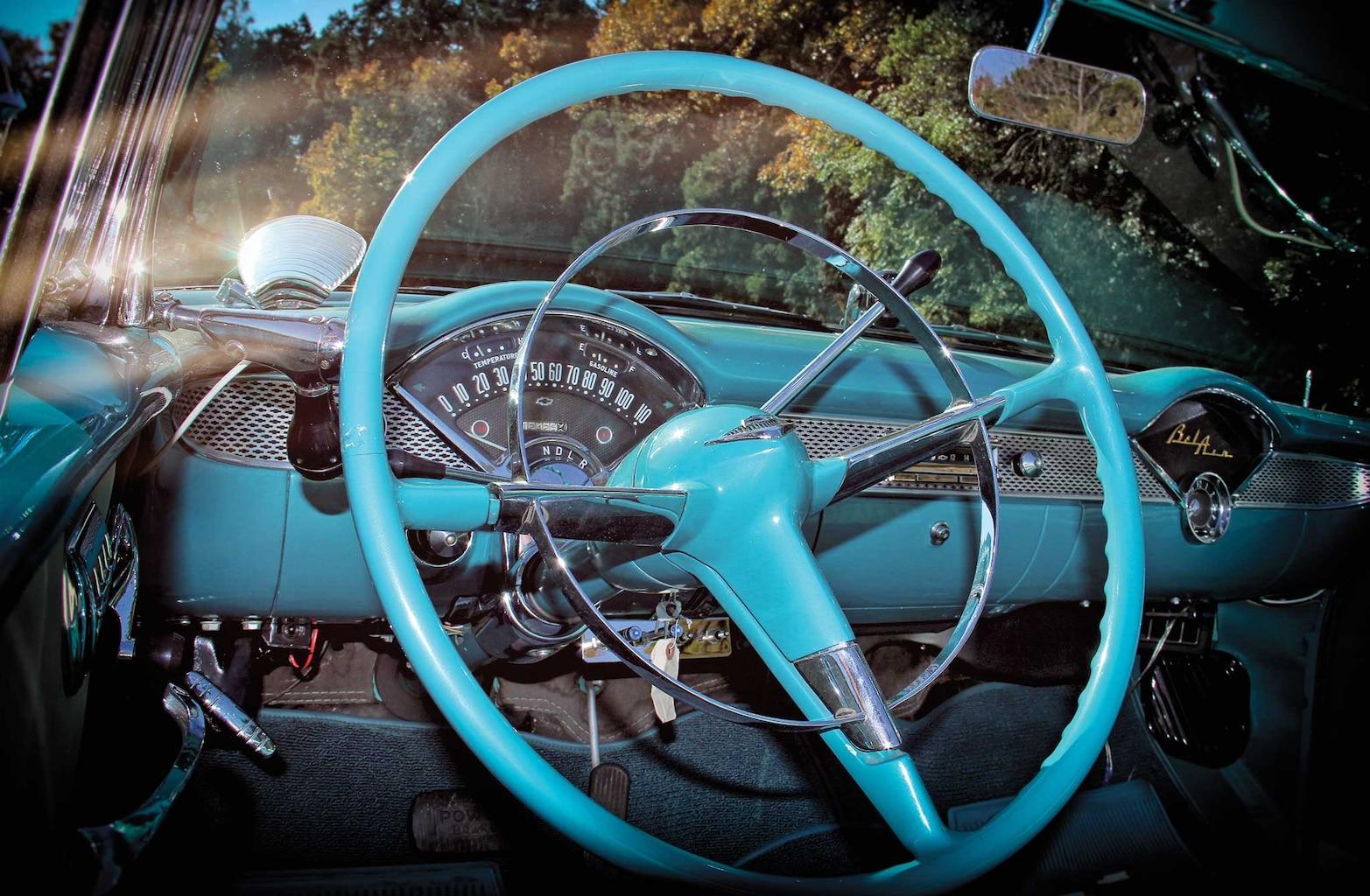 1955 chevy bel air convertible steering wheel 002