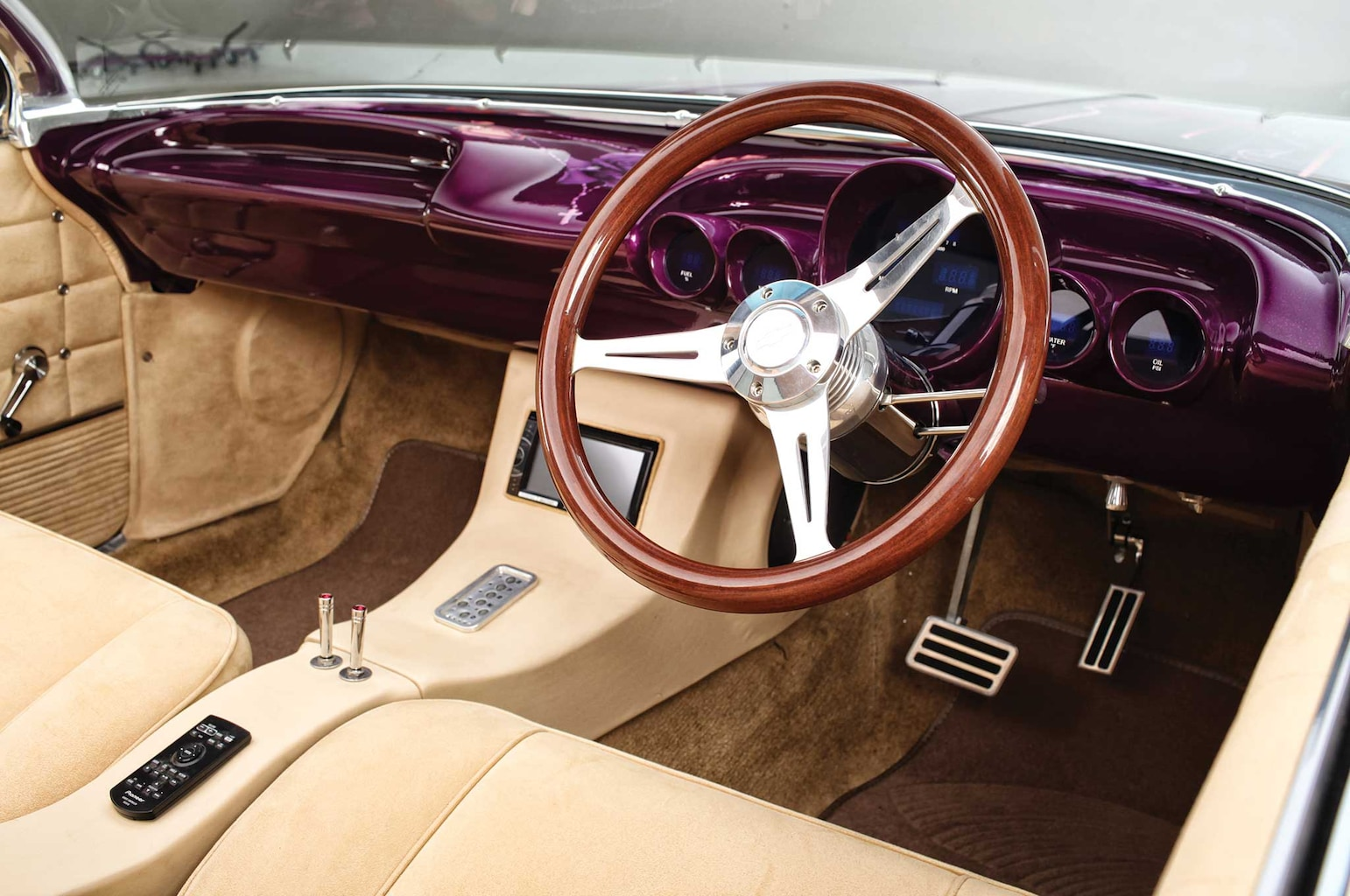 1962 chevrolet impala ss woodgrain steering wheel 007