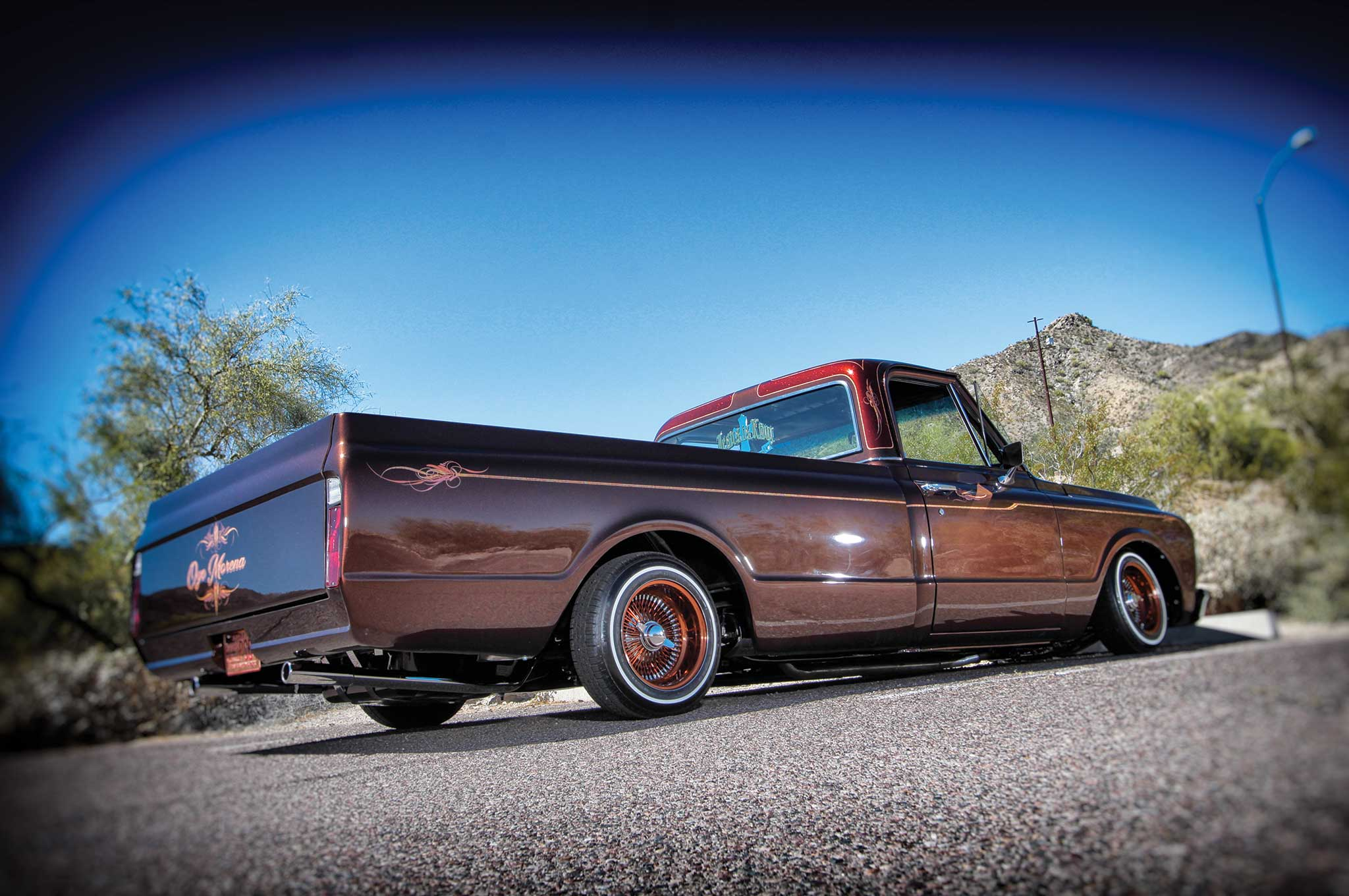Though the '70s-type C10s have become very popular, a set of wires, tires, and Bugs Auto Art accents can sure separate this truck of the month from the rest.