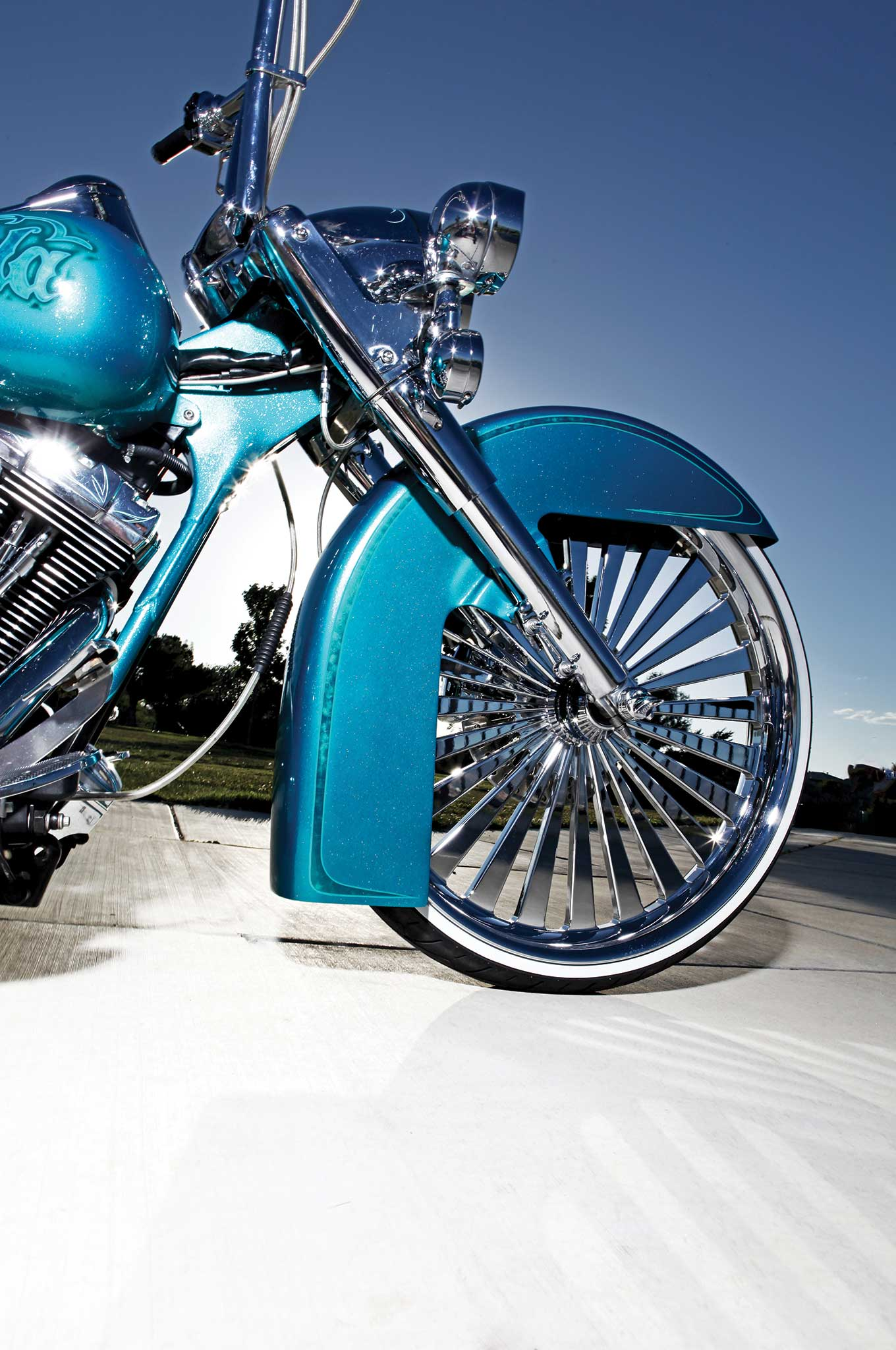 2004 harley davidson road king smt machine chrome wheel 002