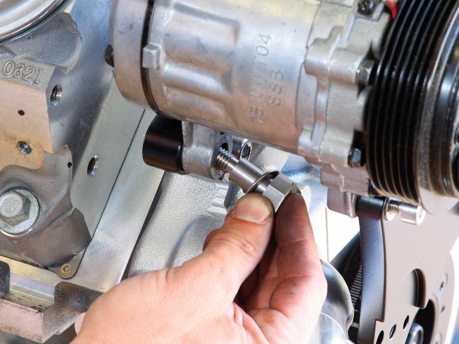 eddie motorsport s drive pulley system ac compressor bolts 011