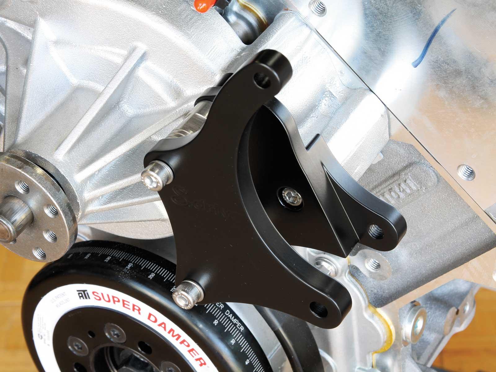 eddie motorsport s drive pulley system alternator bracket 013