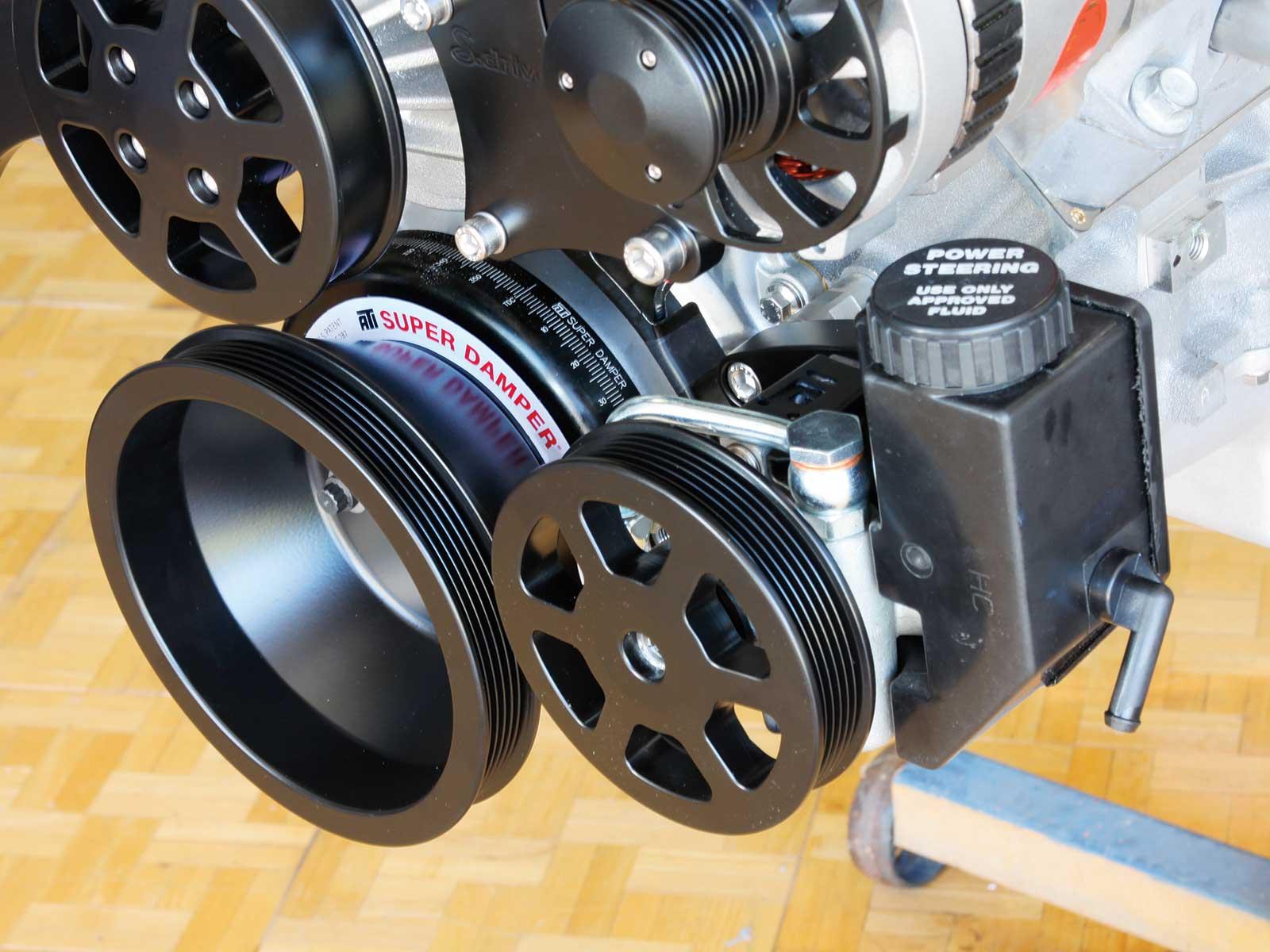 eddie motorsport s drive pulley system power steering pulley 019