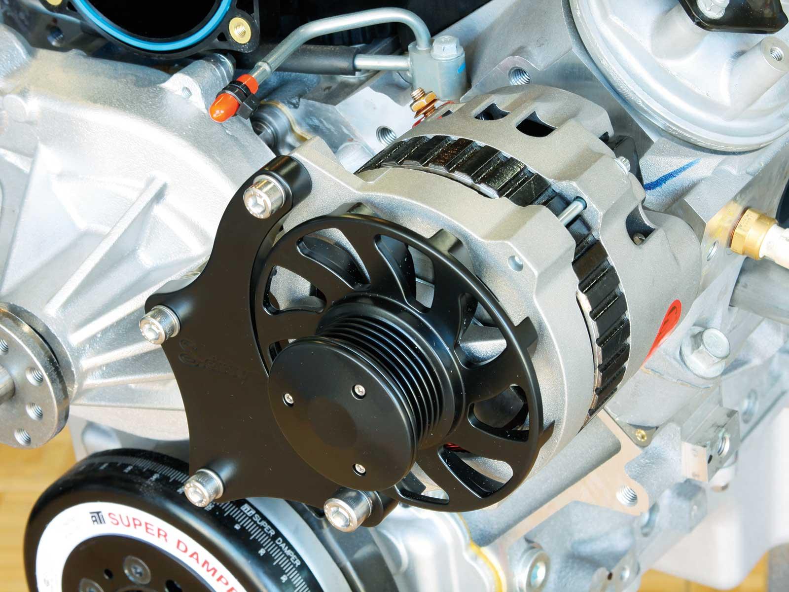 eddie motorsport s drive pulley system powermaster alternator 014