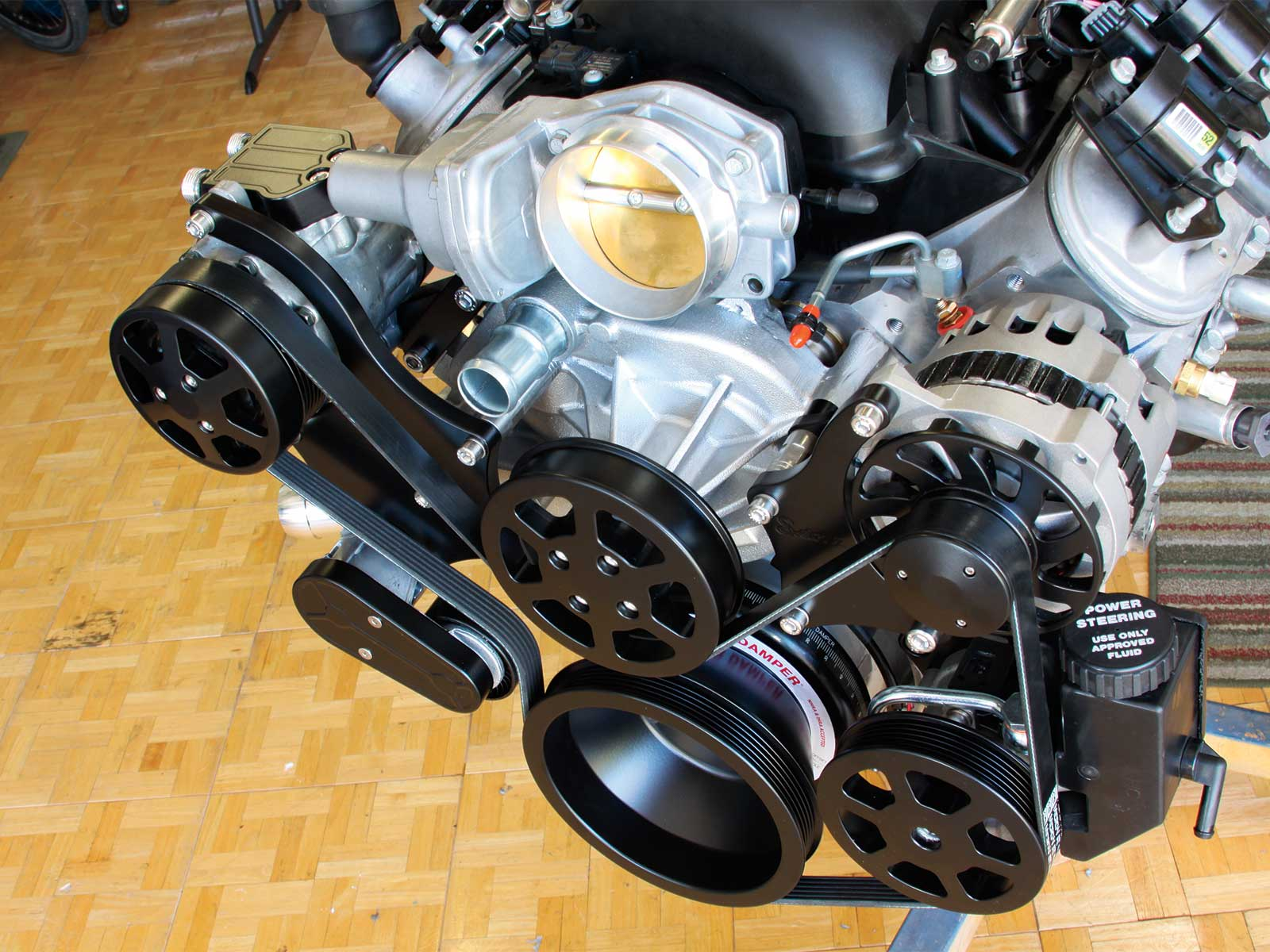 eddie motorsport s drive pulley system serpentine pulley kit 023