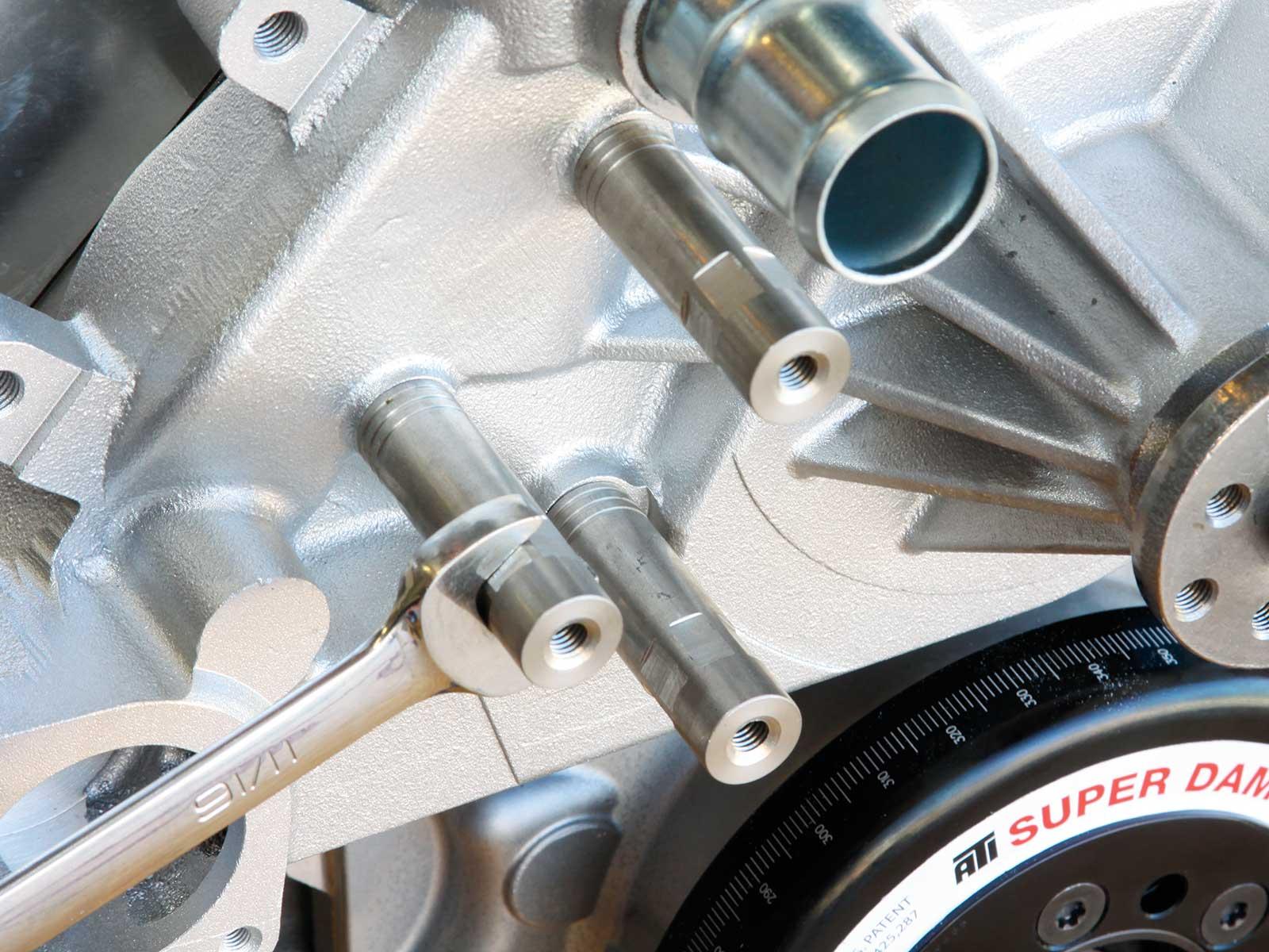 eddie motorsport s drive pulley system spacer posts 006