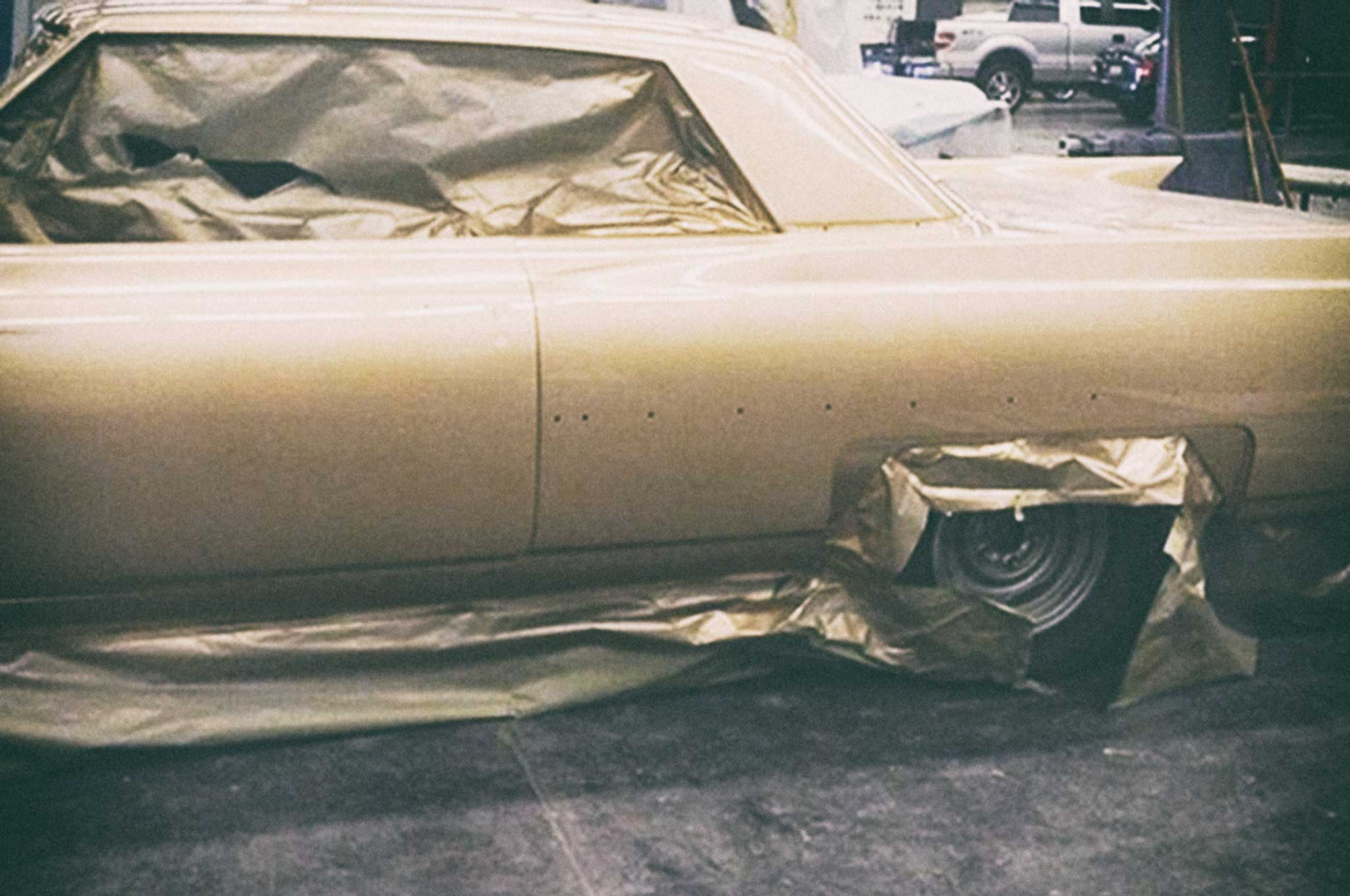 painting our 64 cadillac body painting 018