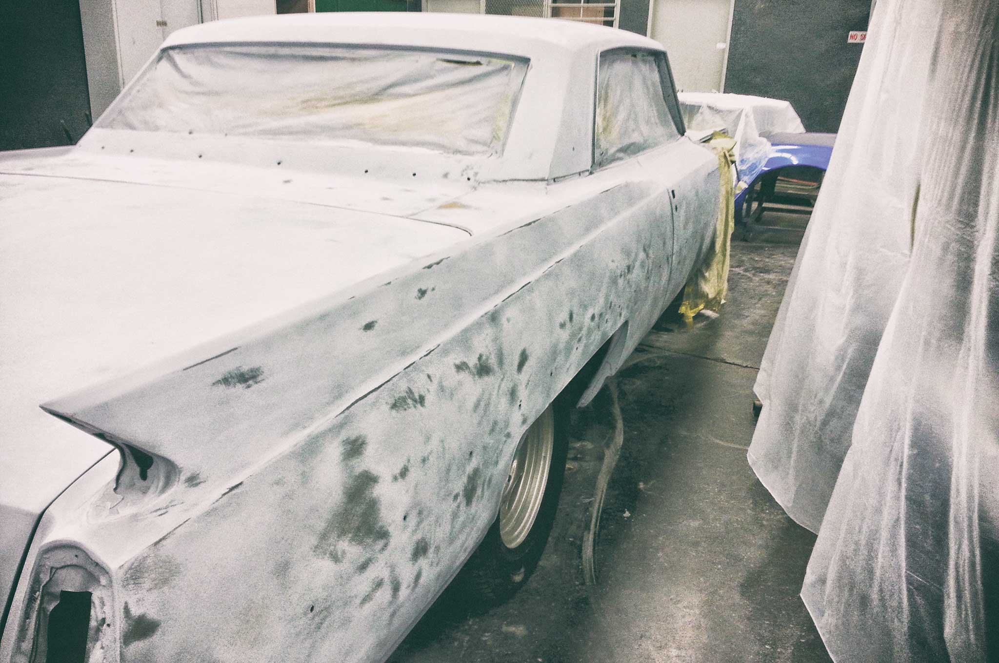 painting our 64 cadillac body sealing 009