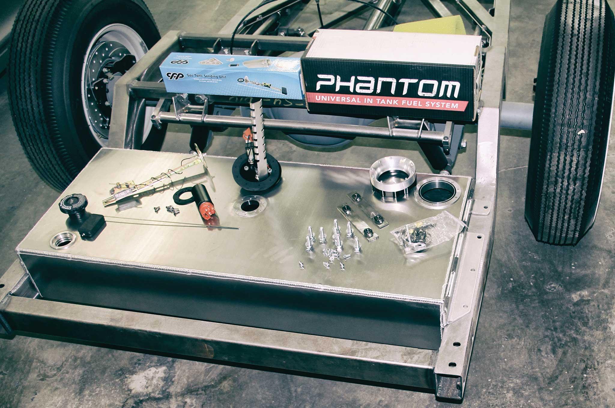 relocating a fuel tank classic performance products efi aluminum tank 003