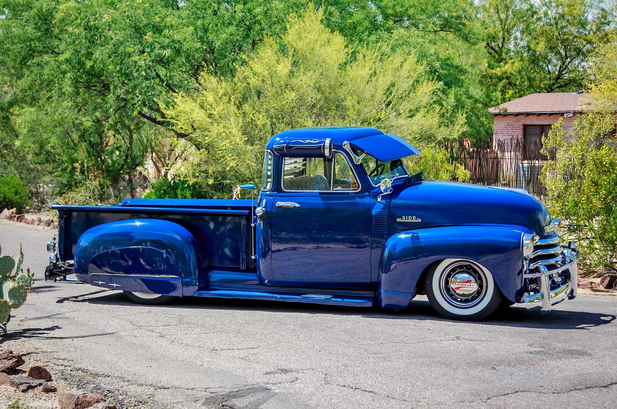 lowrider truck pickup chevrolet 1953 custom rod gangsta tuning rods trucks desktop passenger side vehicle month