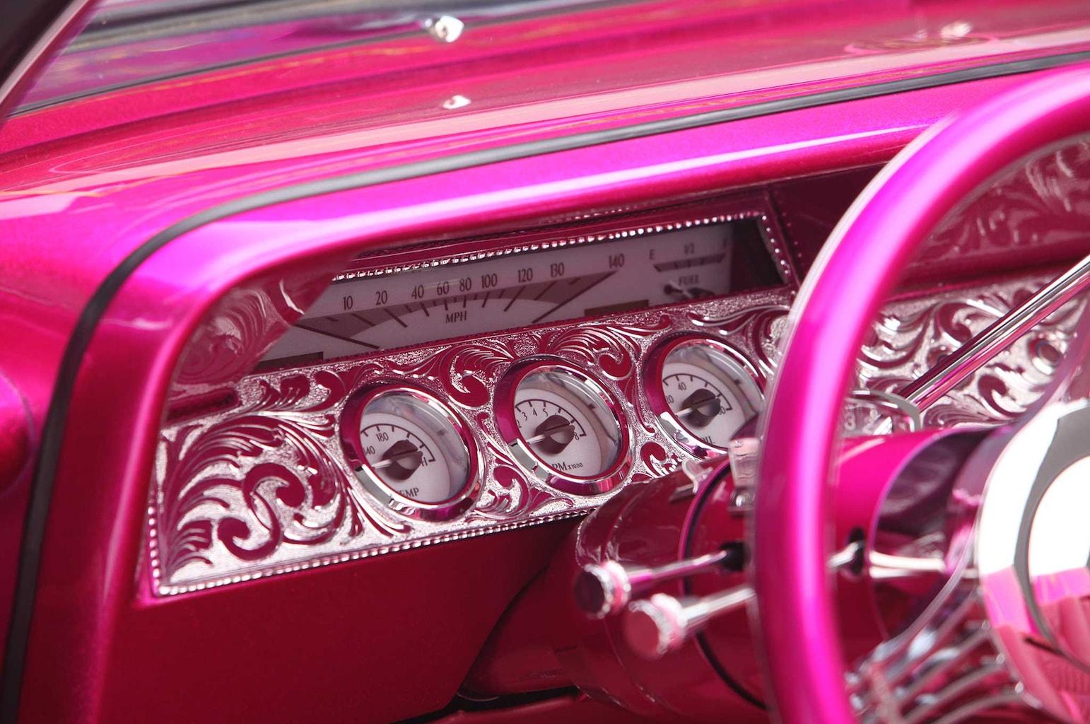 1961 chevrolet impala convertible custom dashboard 029