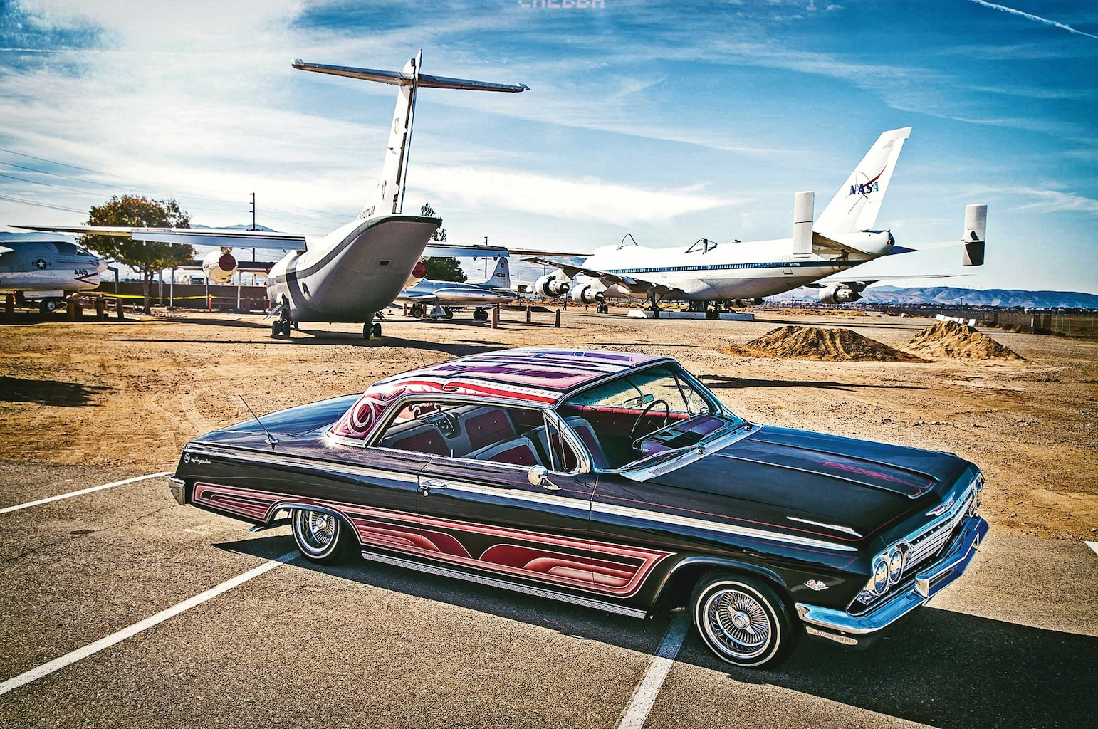Ready for takeoff, the '62 Impala had some sharp body lines and style.