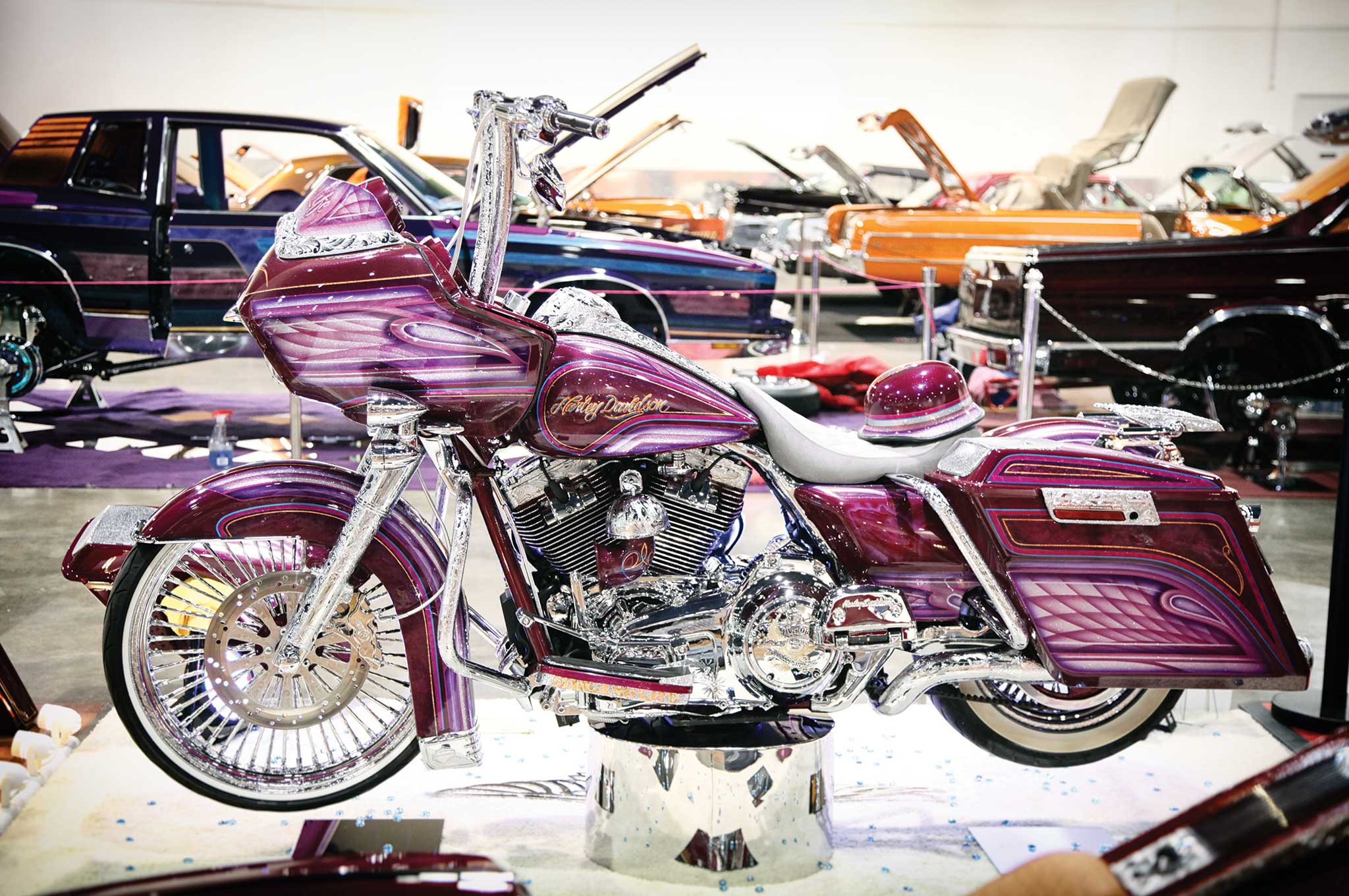 Harleys are making a rumble on the lowrider scene.