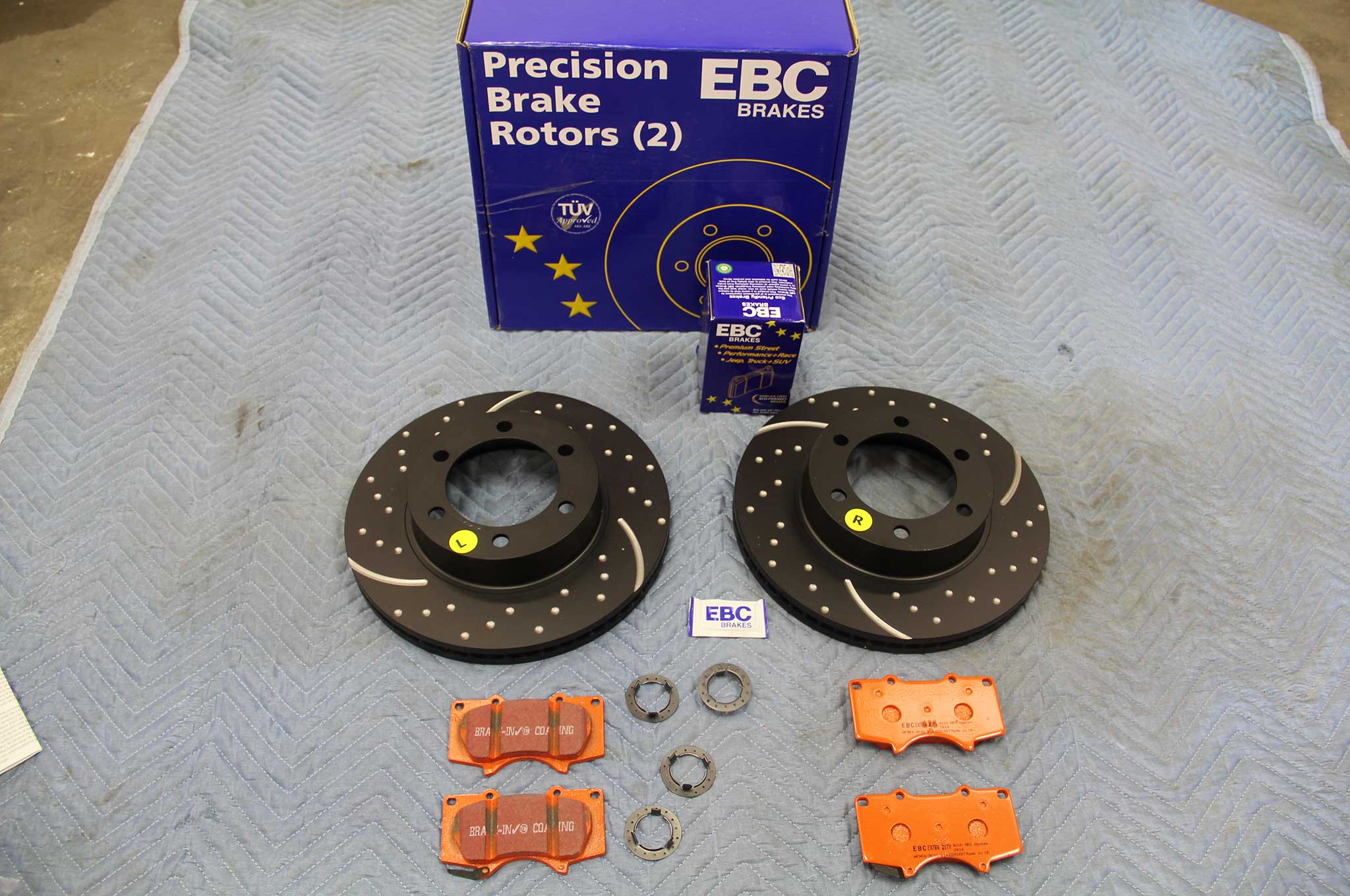 ebc brakes gd rotor and truck pad install brake rotor kit 001