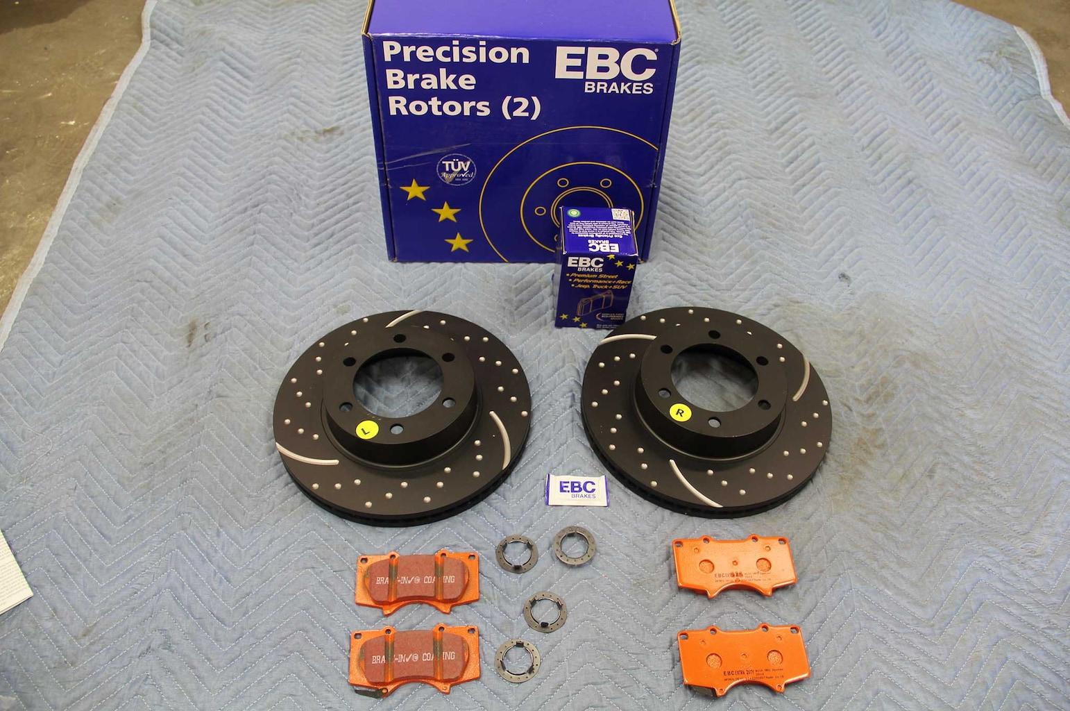 ebc brakes gd rotor and truck pad install brake rotor kit 001