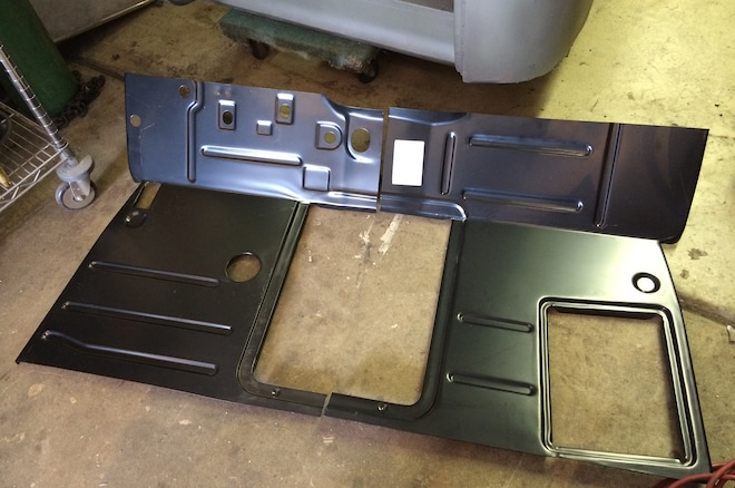 53 Chevy Truck Rusted Metal Floor Panel Replacement