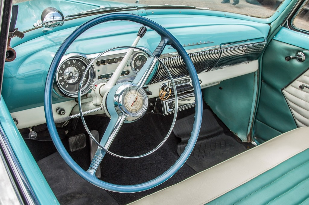 1954 chevrolet 235 convertible interior steering wheel