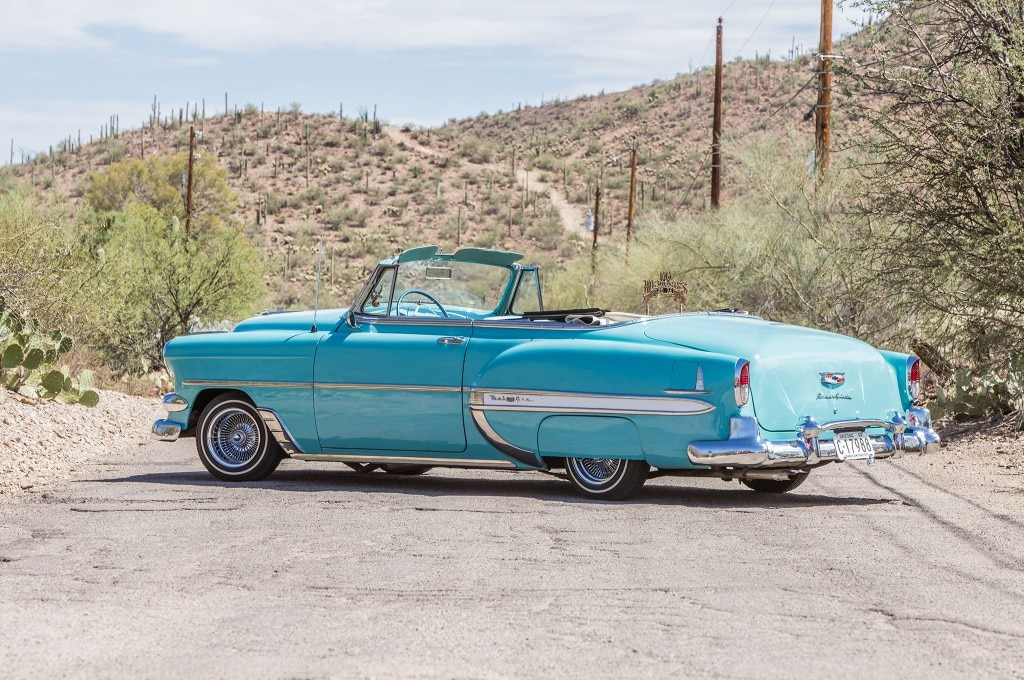 1954 chevrolet 235 convertible rear three quarter