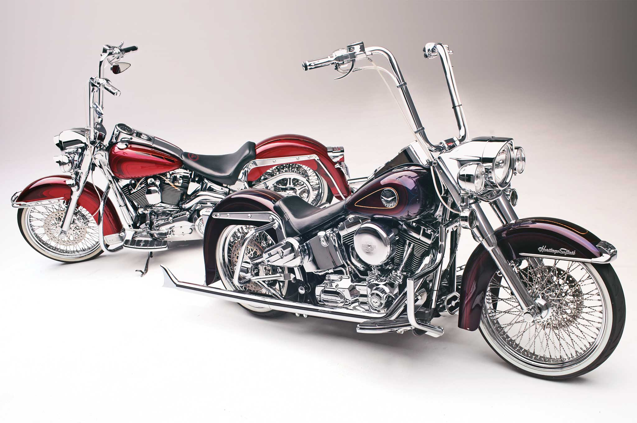Heritage Softail Amp Softail Deluxe Two Harleys One Painter