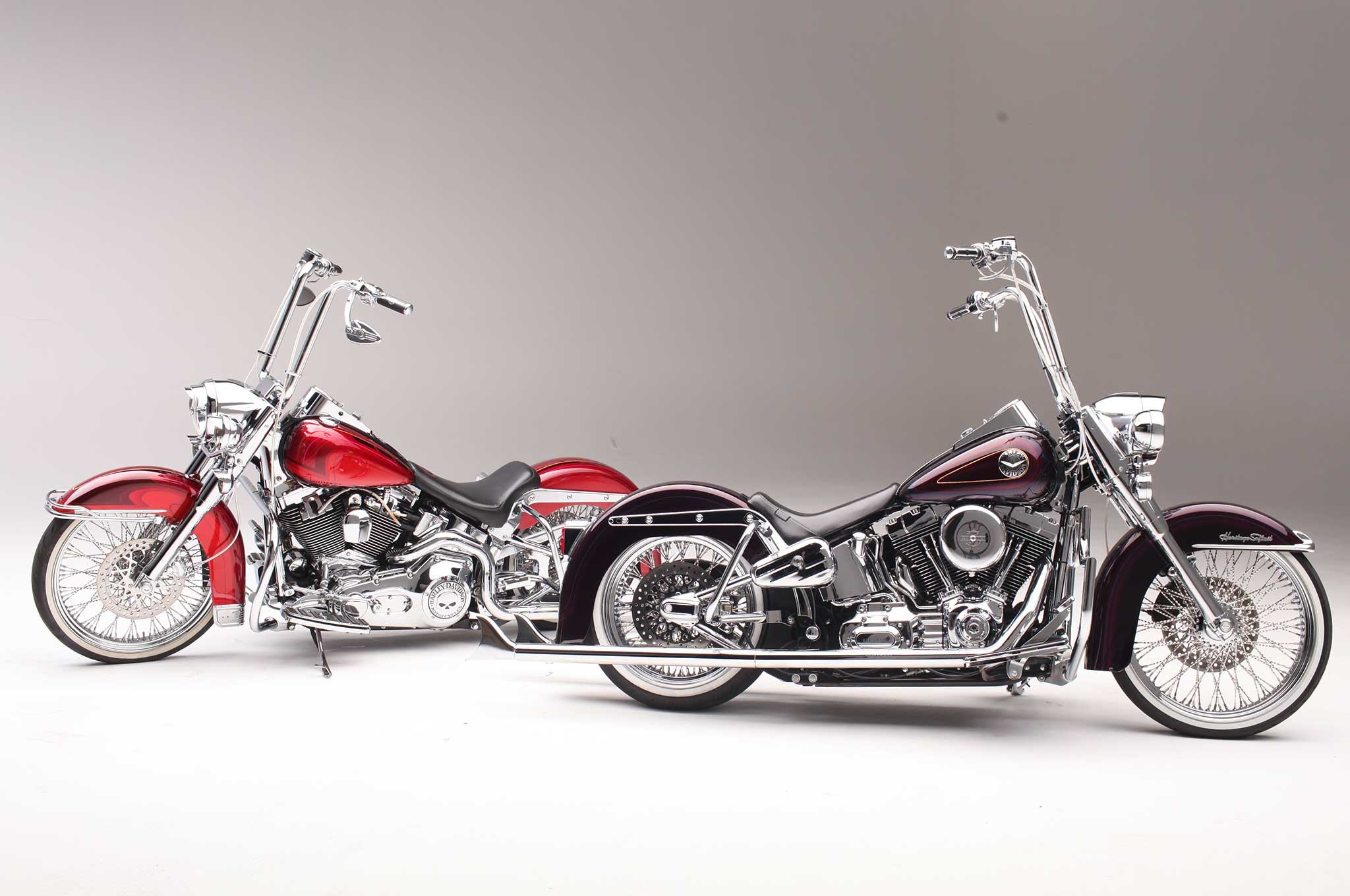 Heritage Softail Deluxe Two Harleys One Painter Harley Davidson 21