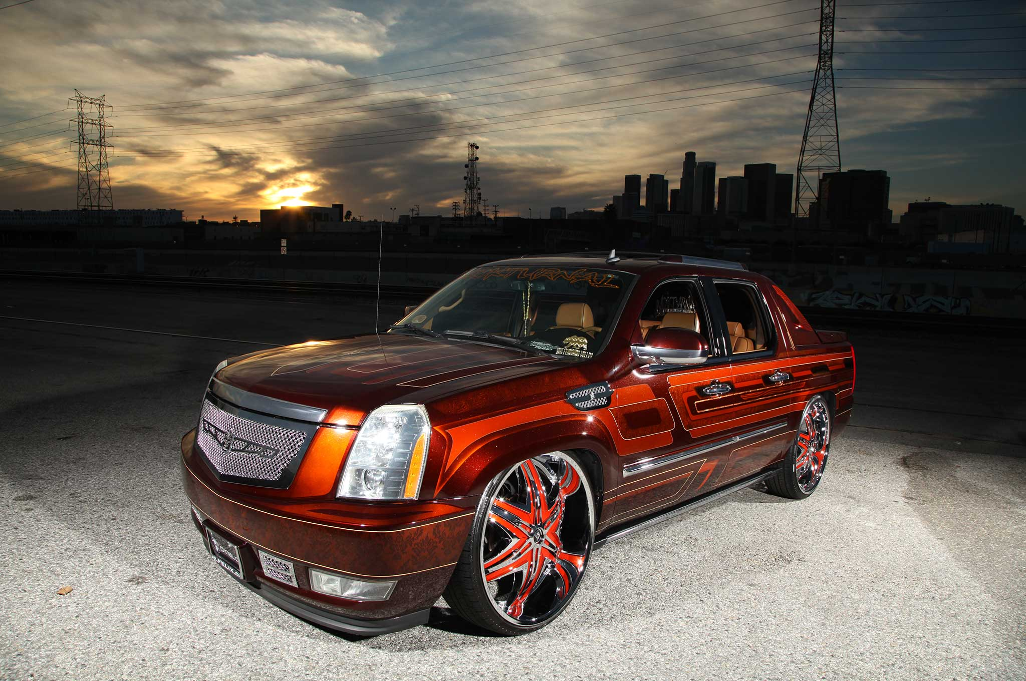 a 2008 cadillac escalade ext on diablo wheels lowrider. Black Bedroom Furniture Sets. Home Design Ideas