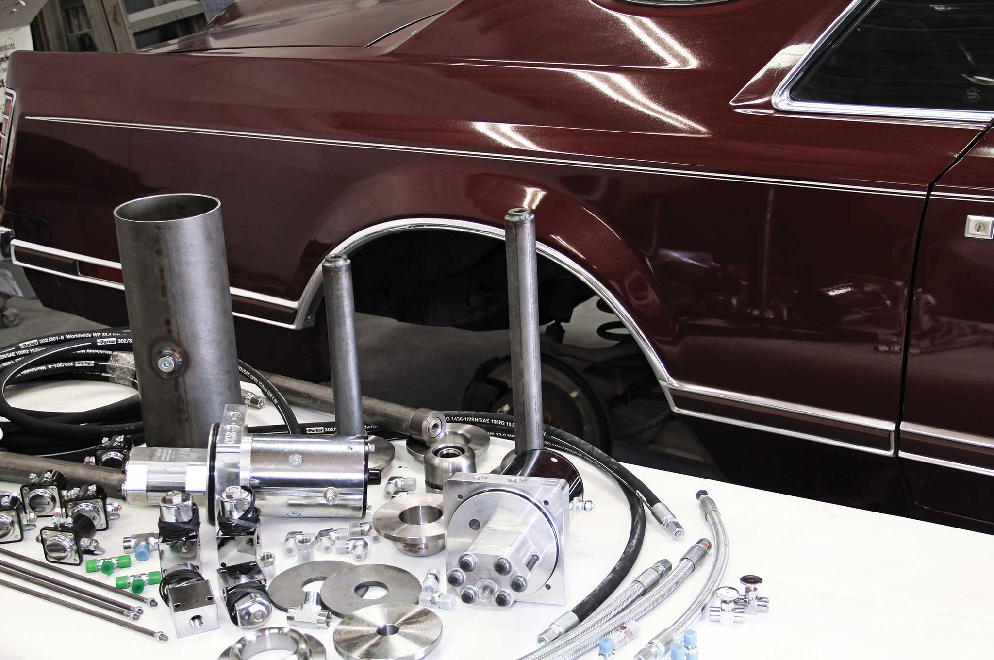 79 Lincoln Continental Mark V Hydraulics Install Lowrider