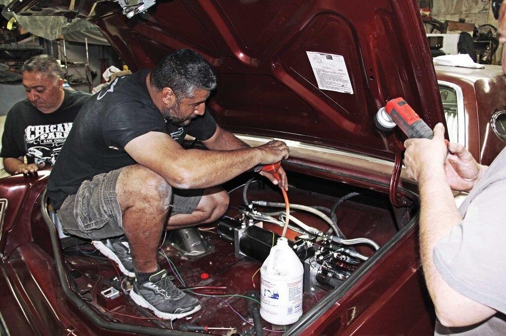 79 lincoln continental mark v hydraulics install hydraulic fluid 022