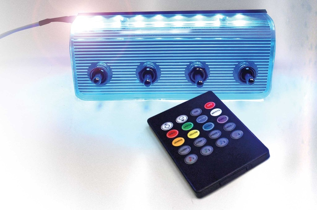 aircraft components led 4 switch panel 007