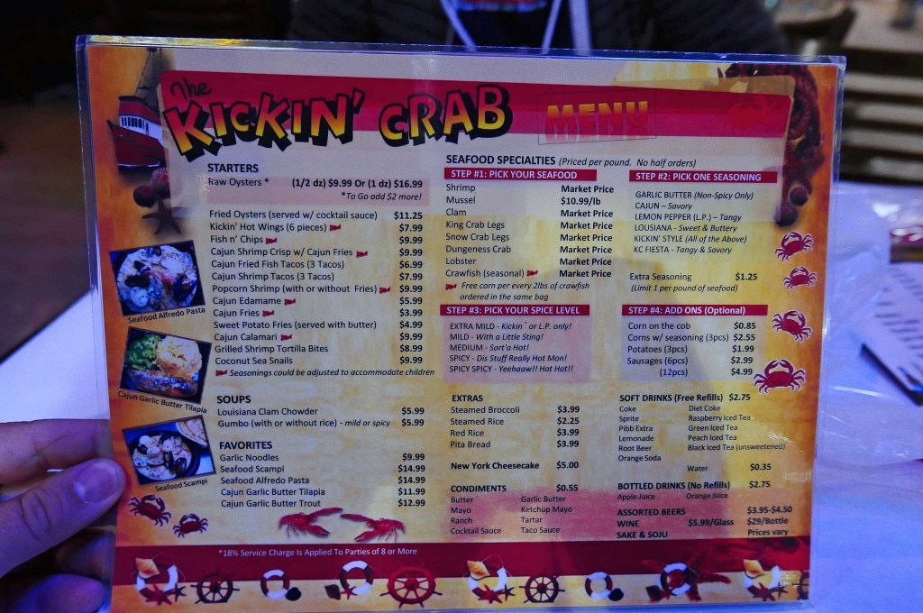 lowrider food review kickin crab seafood menu 05